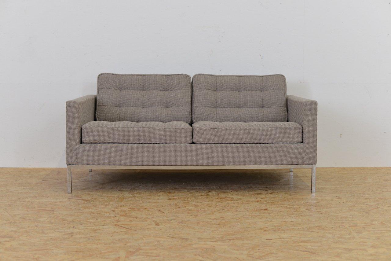 canap deux places mid century par florence knoll pour knoll en vente sur pamono. Black Bedroom Furniture Sets. Home Design Ideas