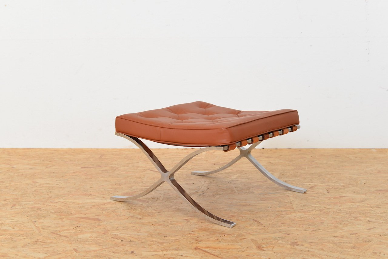 Vintage Barcelona Stool By Ludwig Mies Van Der Rohe For
