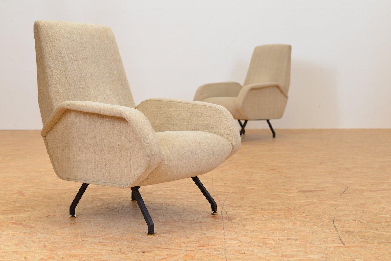 Italienische beige vintage sessel 2er set bei pamono kaufen for Sessel italienisches design