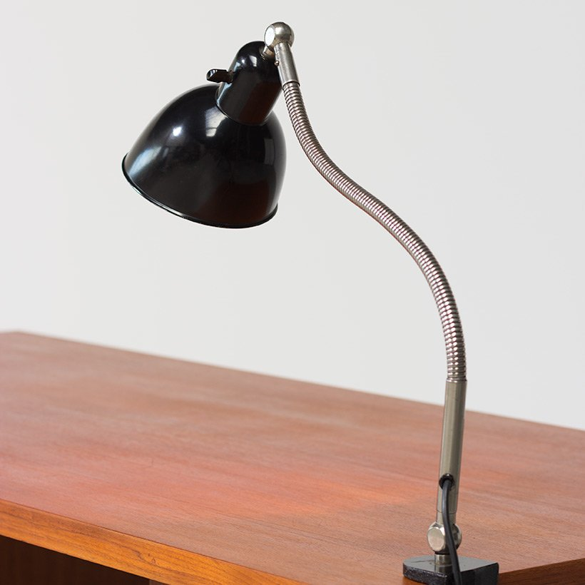 Vintage Bauhaus Clamp Lamp By Christian Dell For Belmag Zurich
