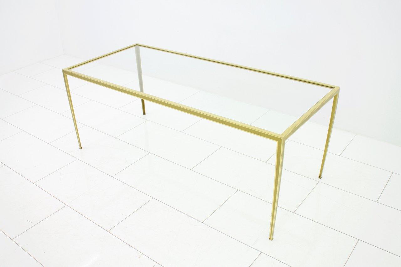 couchtisch aus messing glas von vereinigte werkst tten 1960er bei pamono kaufen. Black Bedroom Furniture Sets. Home Design Ideas