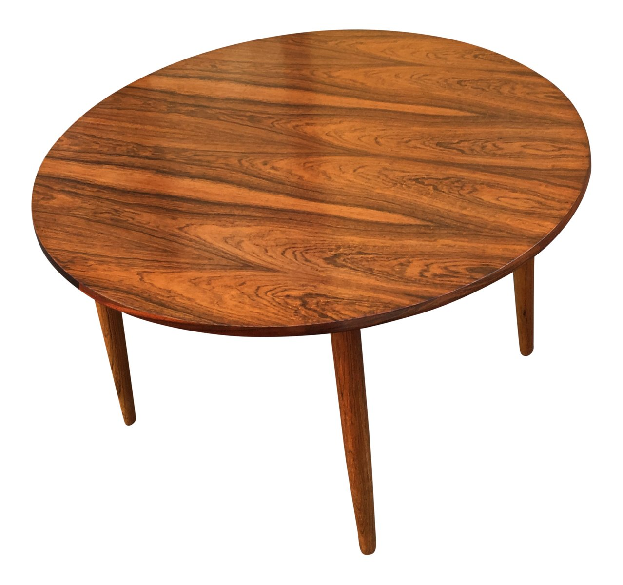 Mid-Century Round Rosewood Coffee Table For Sale At Pamono
