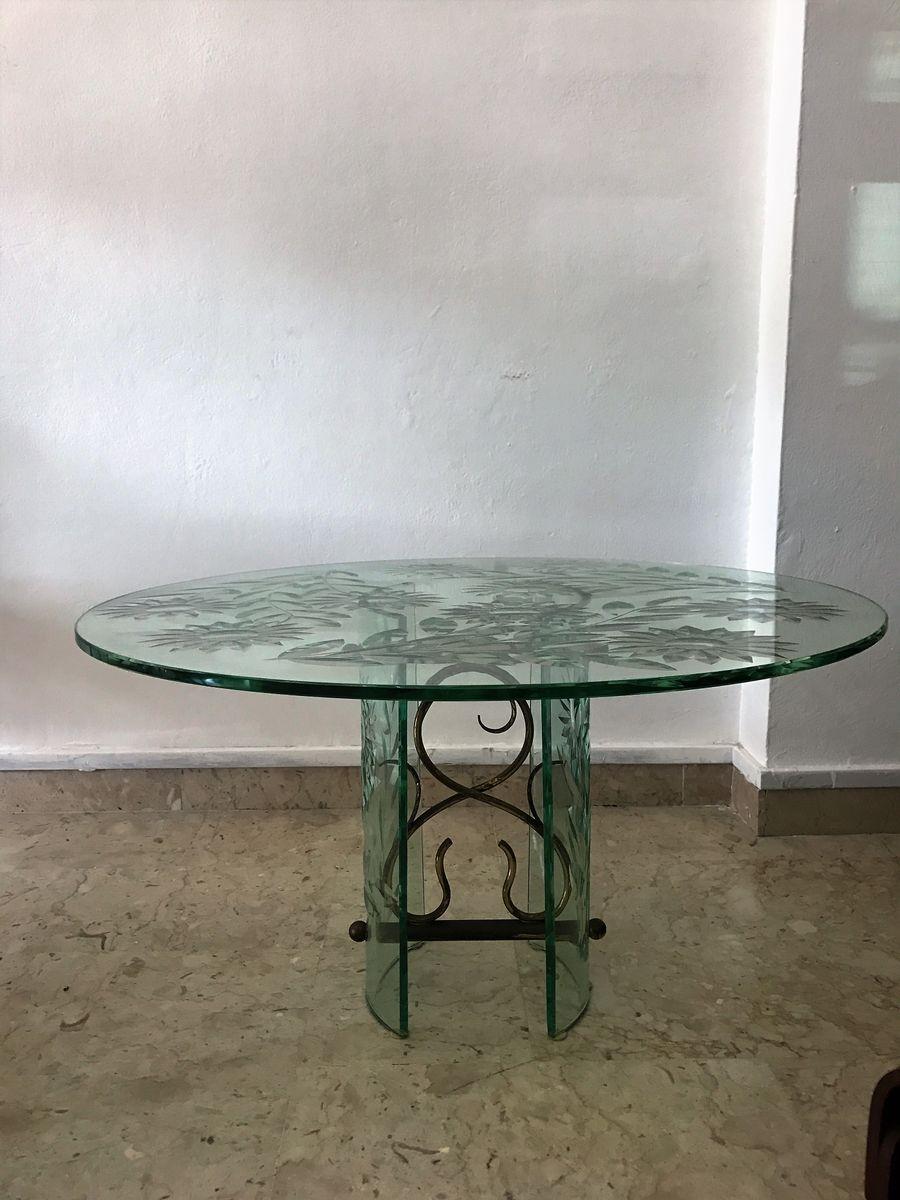 Tavolino da caff mid century in vetro di pietro chiesa for Tavolino anni 60 design
