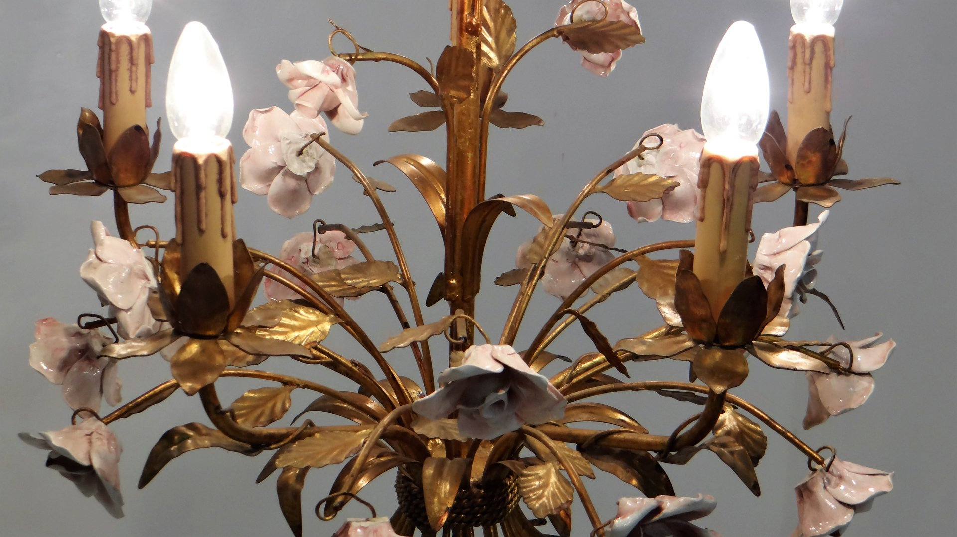 Mid Century Hollywood Regency Chandelier 1950s For Sale At Pamono