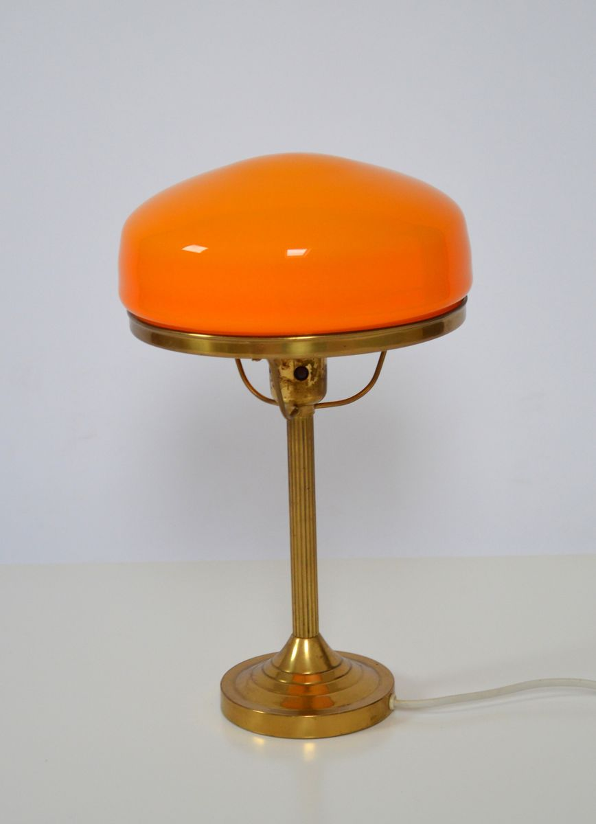 Mid century swedish orange table lamp from karlskrona for sale at pamono mid century swedish orange table lamp from karlskrona mozeypictures Image collections