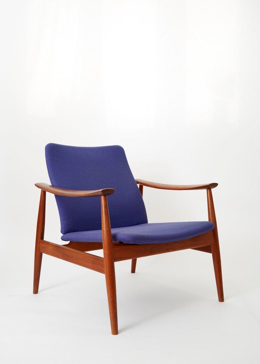 Elegant Mid Century Model 138 Easy Chair By Finn Juhl For France U0026 Søn