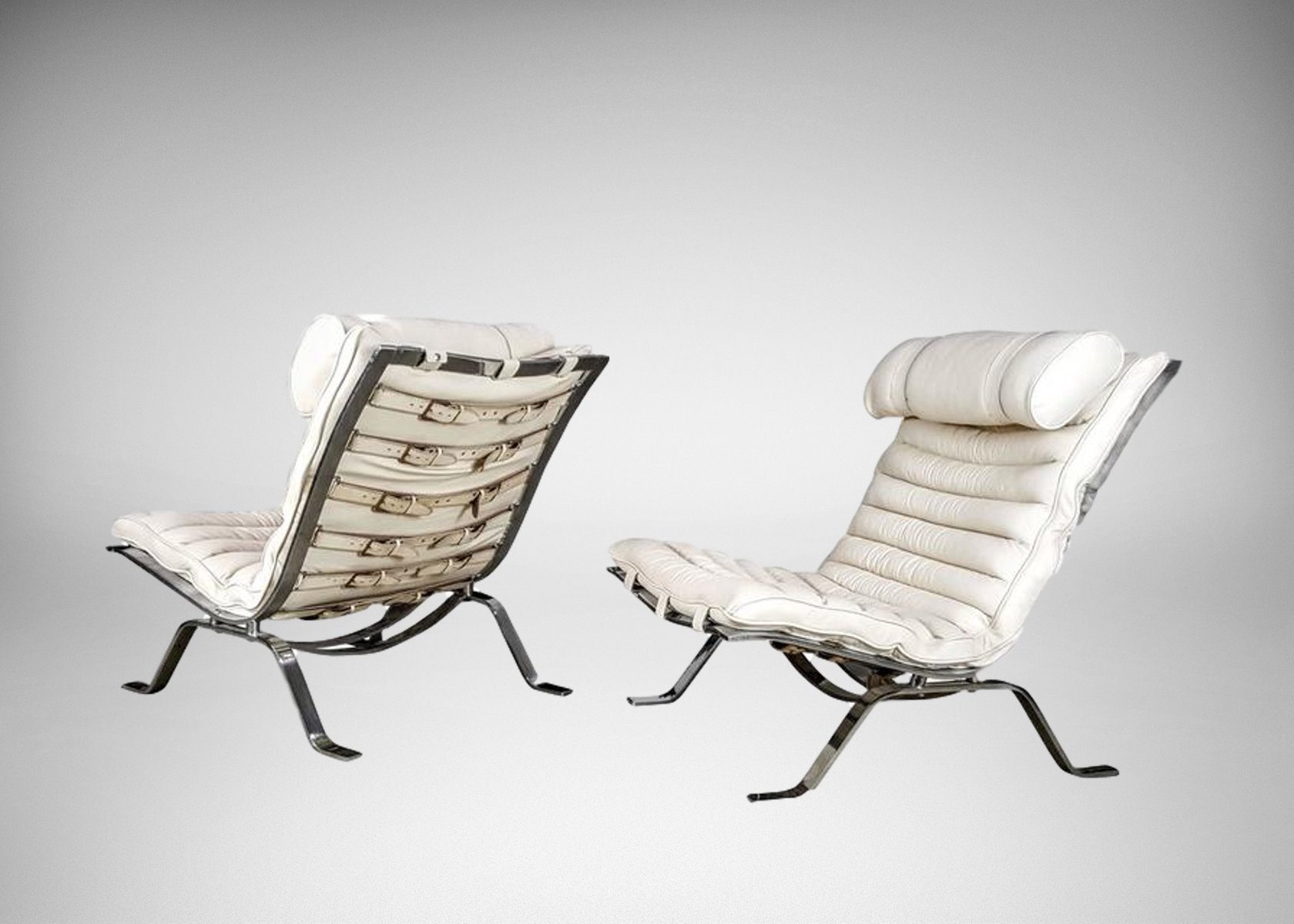 Good Swedish Ari Lounge Chairs From Arne Norell, 1970s, Set Of 2