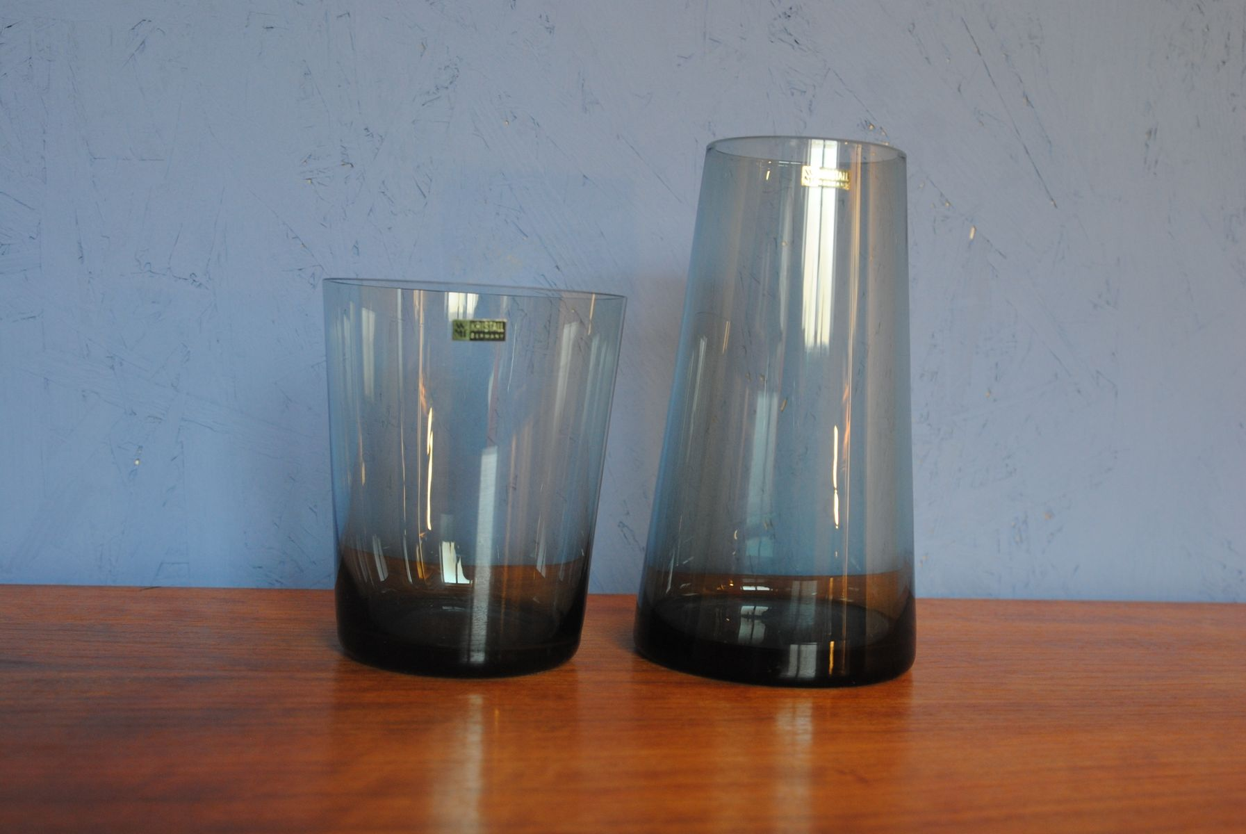 Mid century tinted glass trio vases by wilhelm wagenfeld for wmf mid century tinted glass trio vases by wilhelm wagenfeld for wmf 1958 set of 2 for sale at pamono reviewsmspy