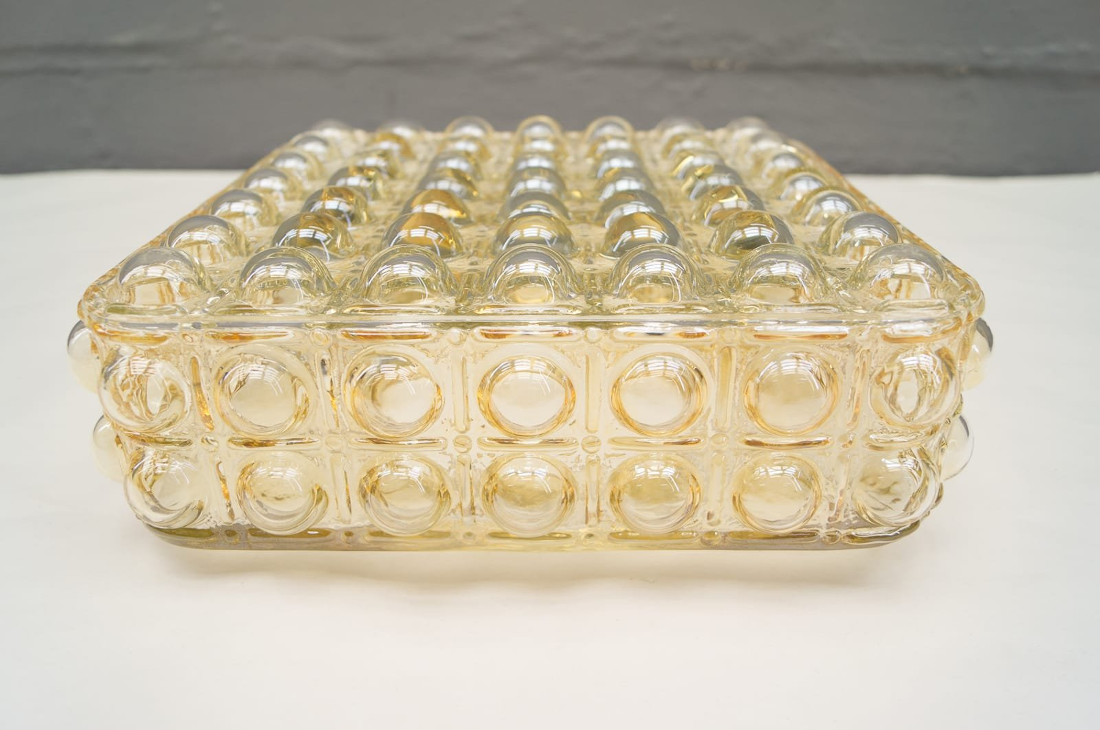Large Glass Wall Light with Bubble Structure, 1960s for sale at Pamono