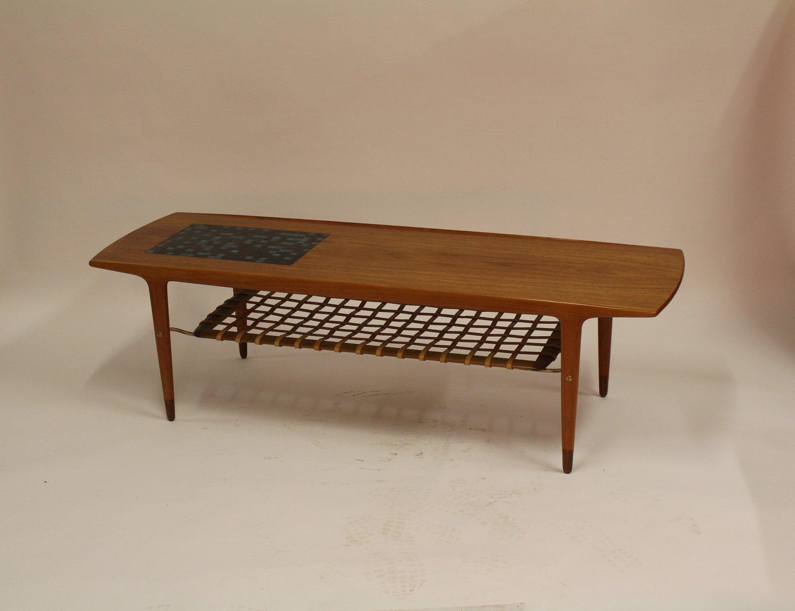 d nischer vintage teak couchtisch und zeitschriftenablage. Black Bedroom Furniture Sets. Home Design Ideas
