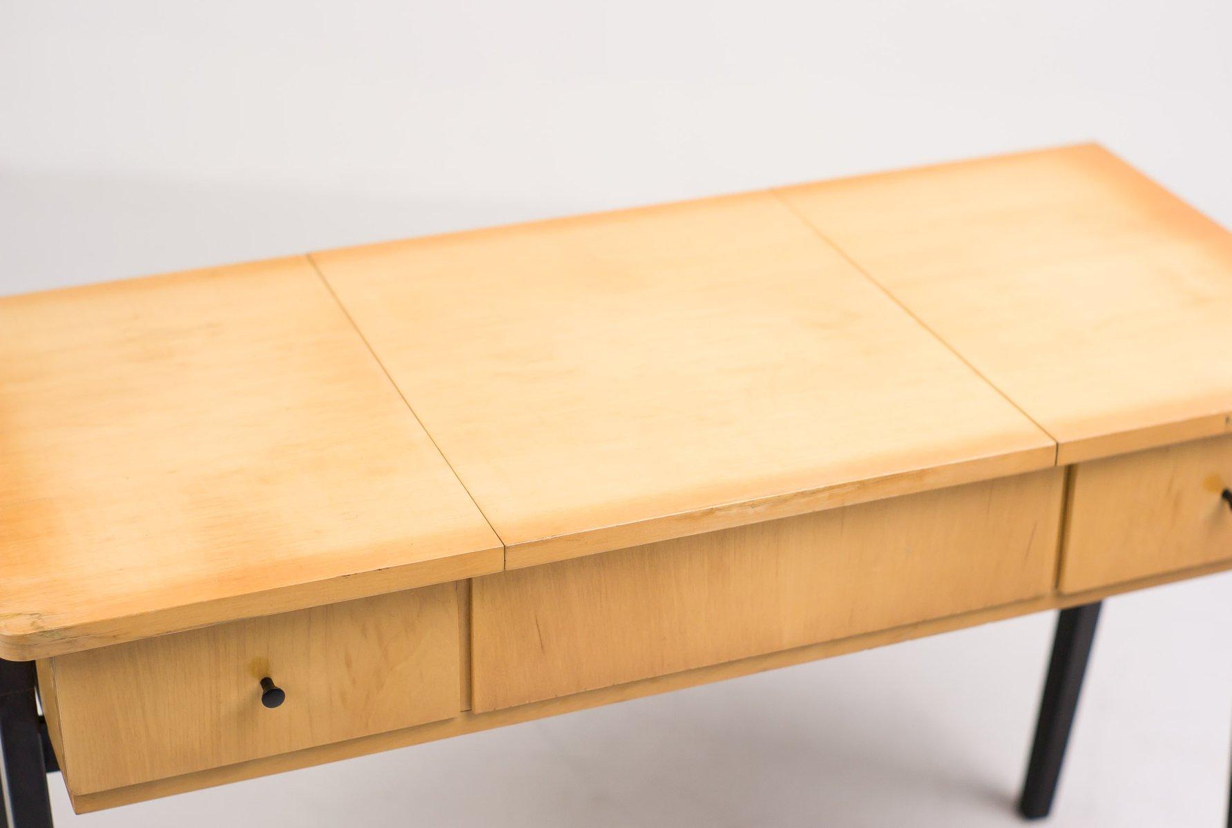 niederl ndischer mid century schreibtisch aus birke bei. Black Bedroom Furniture Sets. Home Design Ideas