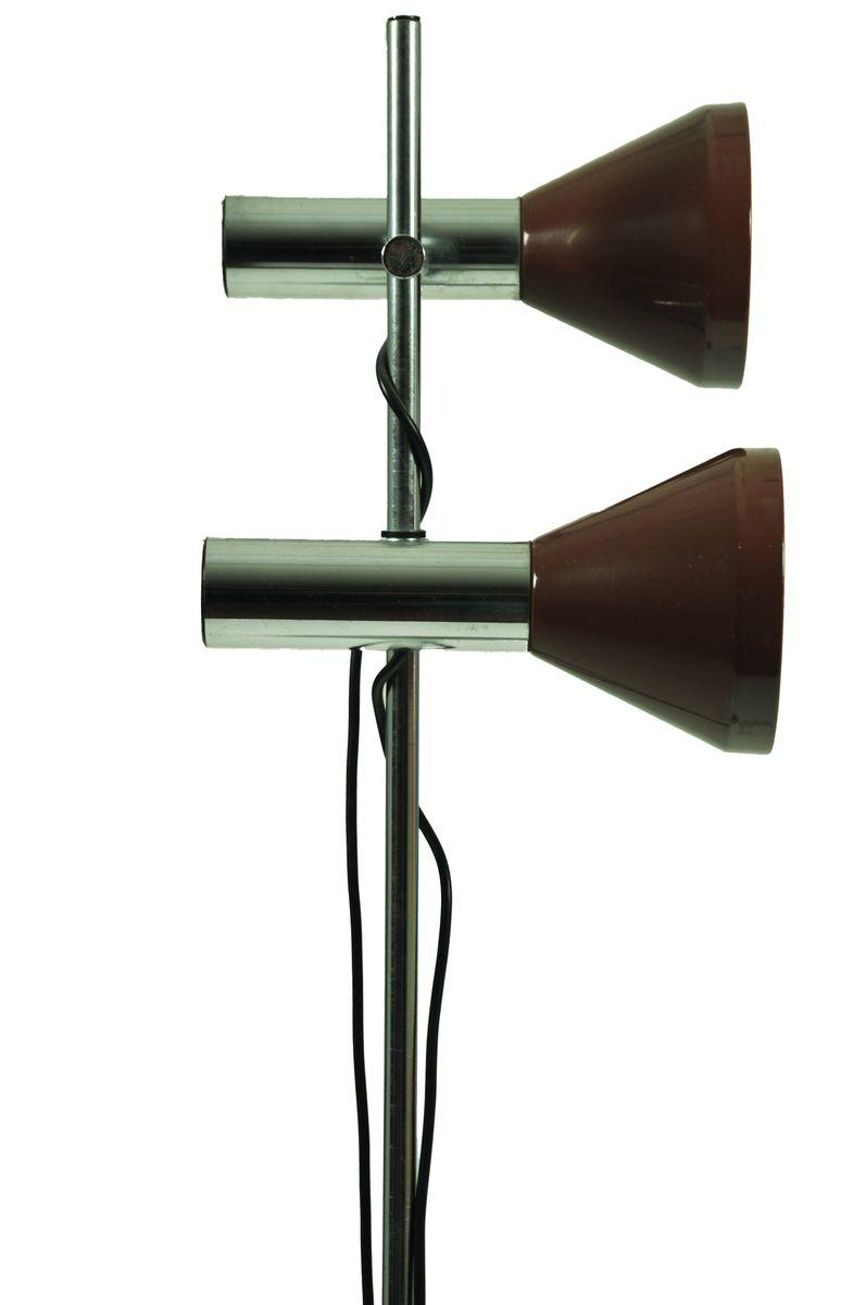 stehlampe mit zwei leuchten bei pamono kaufen. Black Bedroom Furniture Sets. Home Design Ideas
