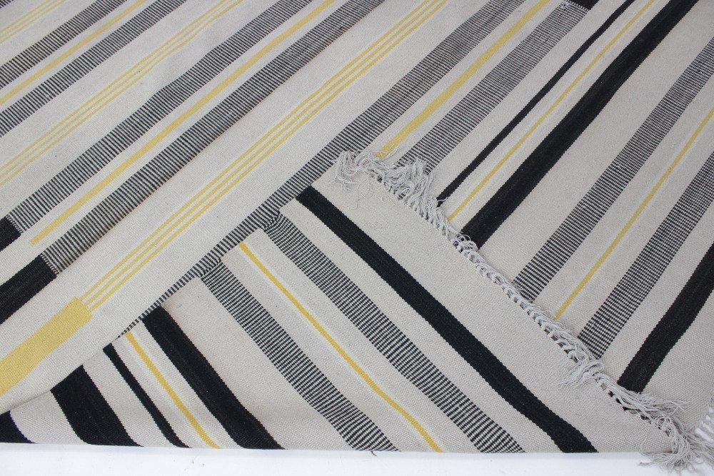 gestreifter tschechischer mid century teppich 1950er bei pamono kaufen. Black Bedroom Furniture Sets. Home Design Ideas
