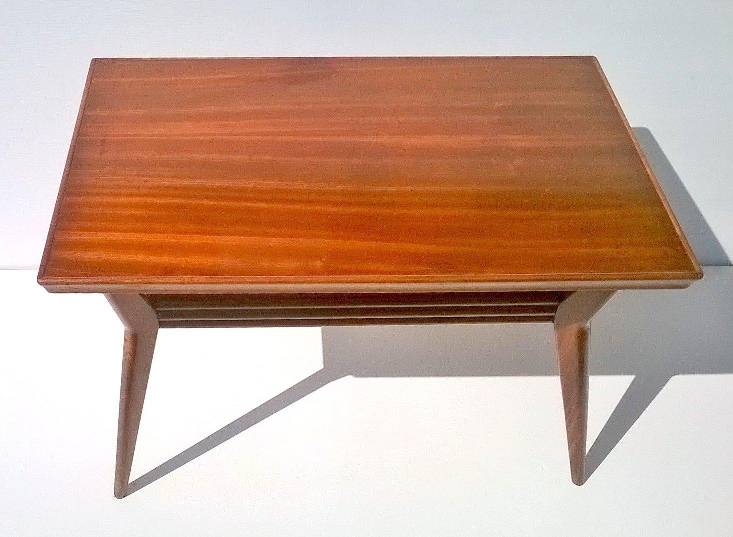 Art Deco Italian Mahogany Coffee Table 1930s