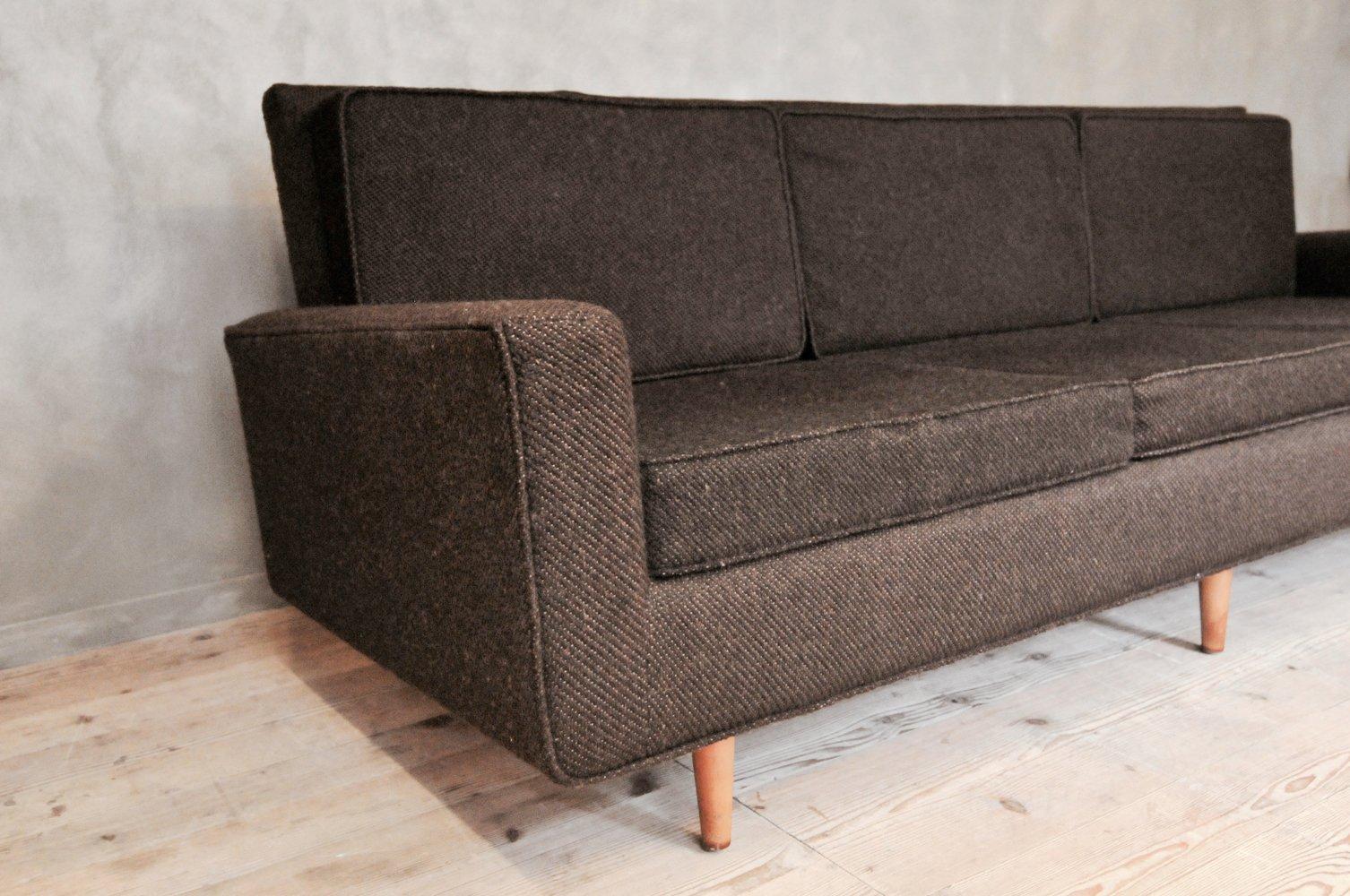 three seater sofa von florence knoll f r knoll. Black Bedroom Furniture Sets. Home Design Ideas