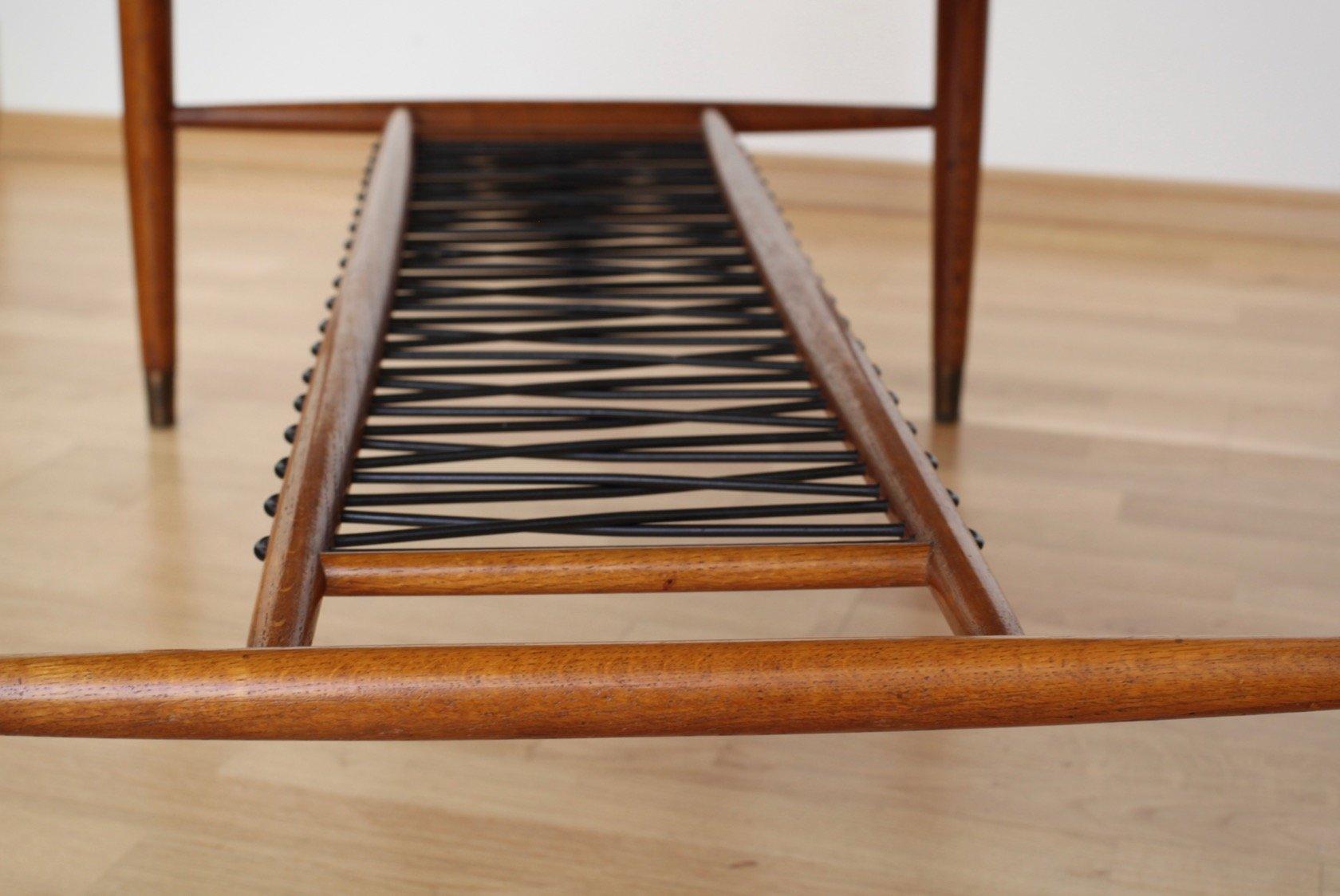 table basse en forme de planche de surf avec plateau en travertin 1950s en vente sur pamono. Black Bedroom Furniture Sets. Home Design Ideas