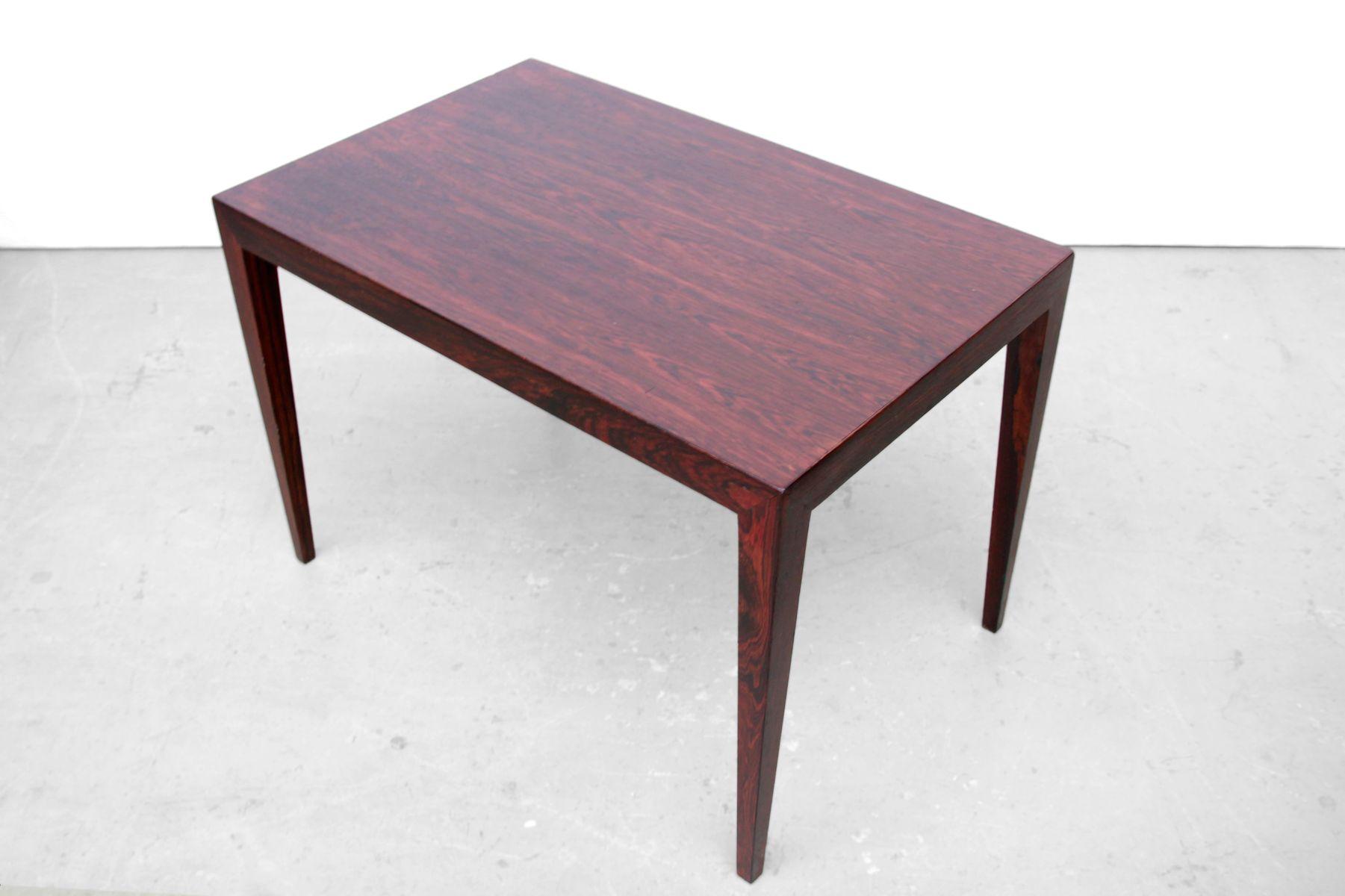 Nice Danish Rosewood Veneered Side Table By Severin Hansen For Haslev, 1960s