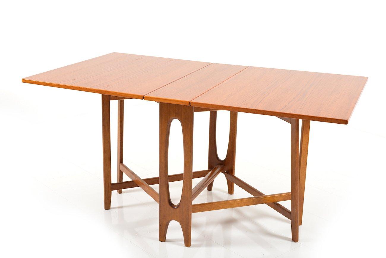 Teak Kitchen Table Vintage drop leaf teak dining table by bendt winge for kleppes vintage drop leaf teak dining table by bendt winge for kleppes mbelfabrikk workwithnaturefo