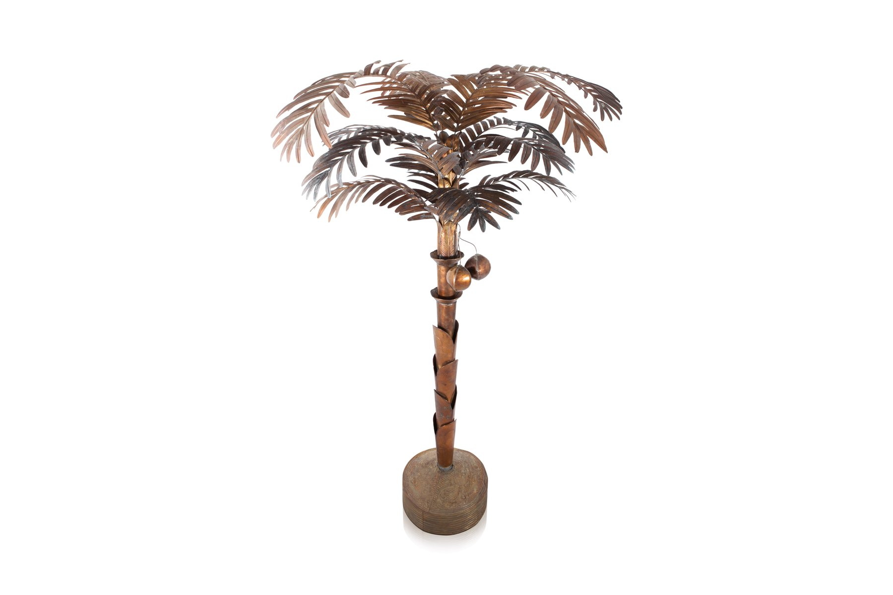 Vintage brass palm tree floor lamp for sale at pamono vintage brass palm tree floor lamp aloadofball