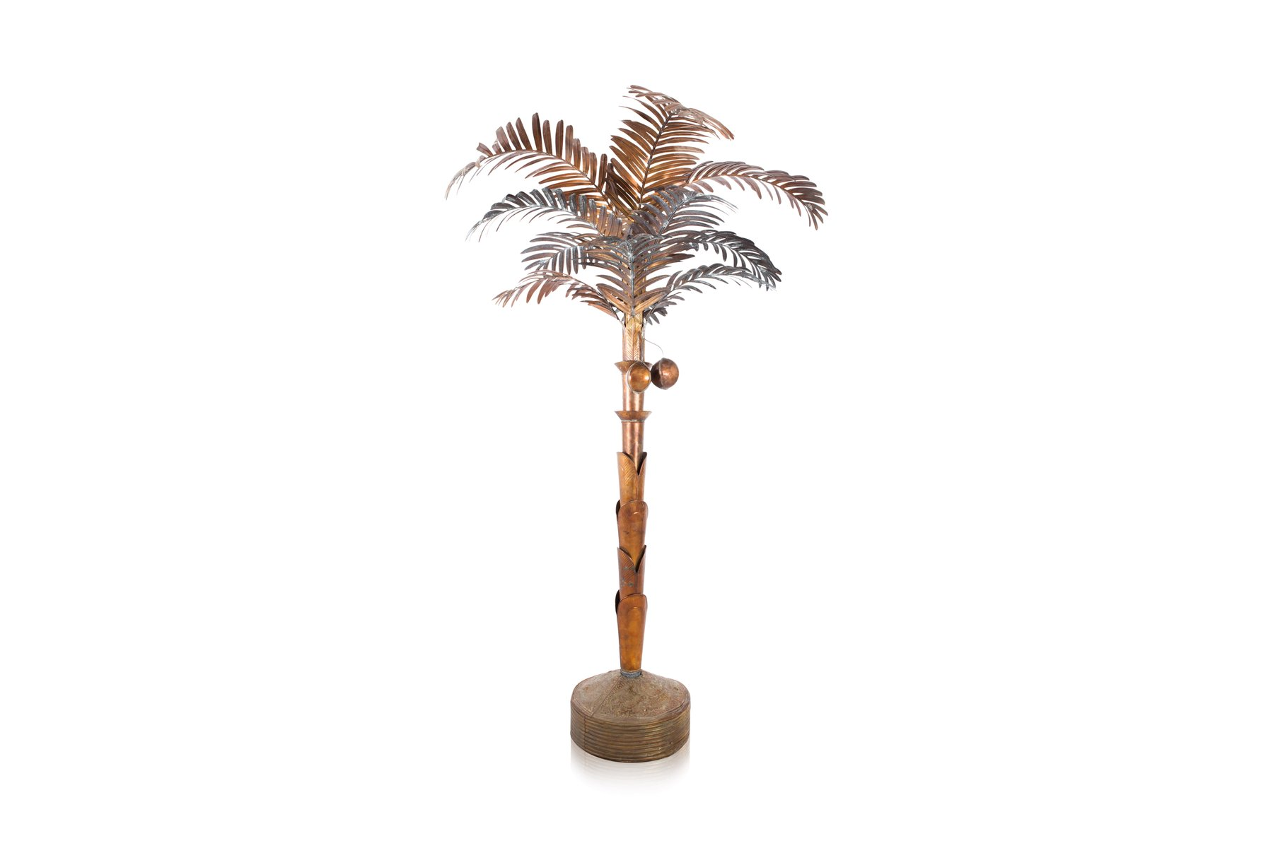 Vintage Brass Palm Tree Floor Lamp For Sale At Pamono