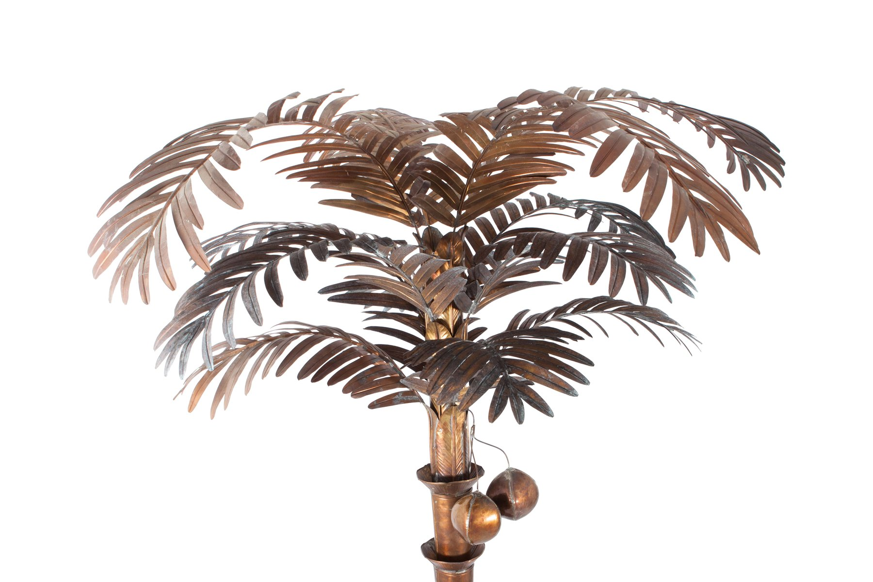 Vintage brass palm tree floor lamp for sale at pamono vintage brass palm tree floor lamp 5 375000 aloadofball