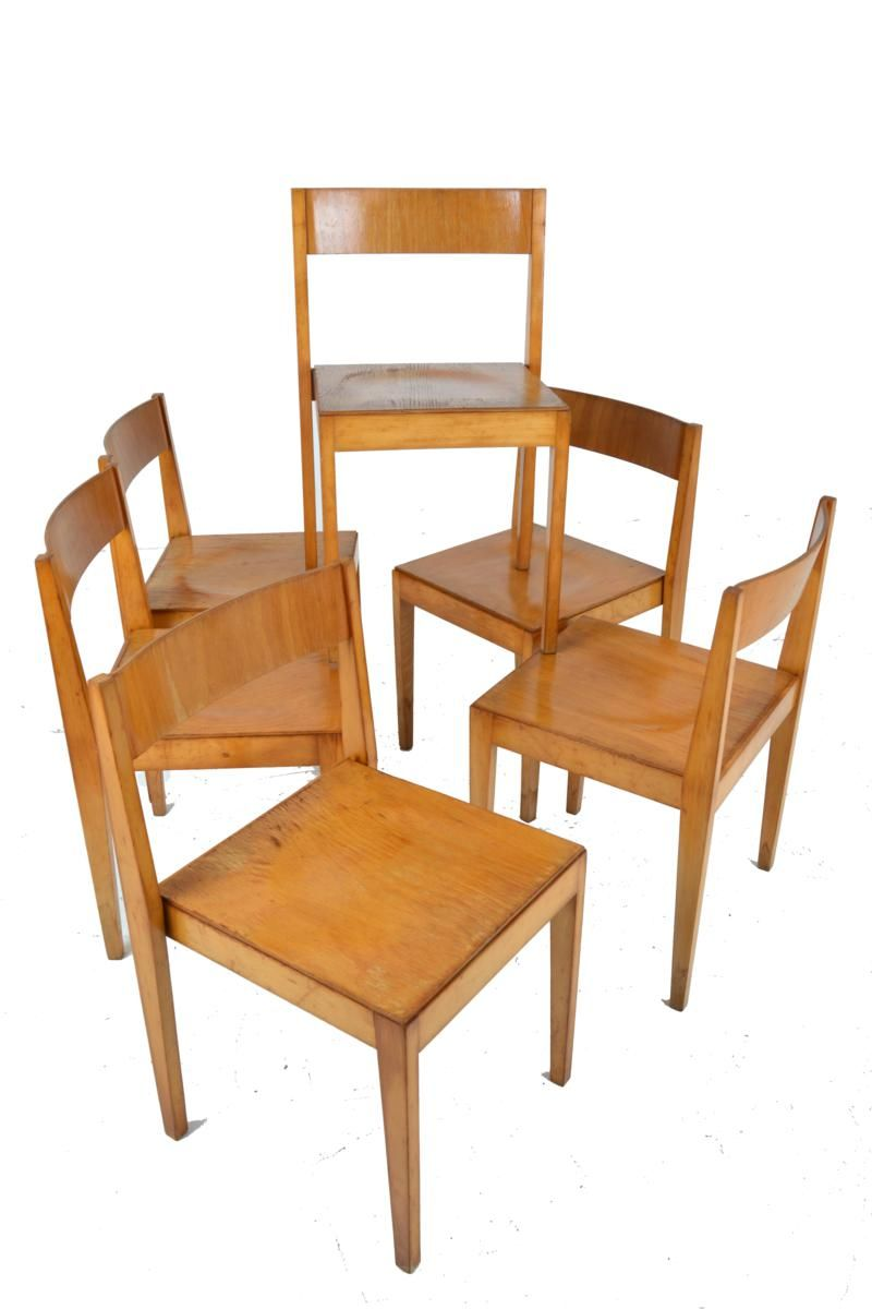 Mid Century Wooden Dining Chairs From Lübke, 1960s, Set Of 6