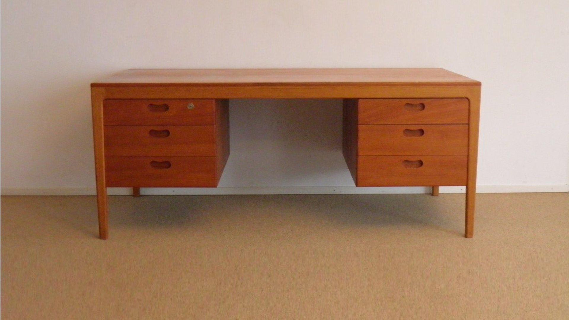 d nischer mid century schreibtisch mit schubladen 1960er. Black Bedroom Furniture Sets. Home Design Ideas