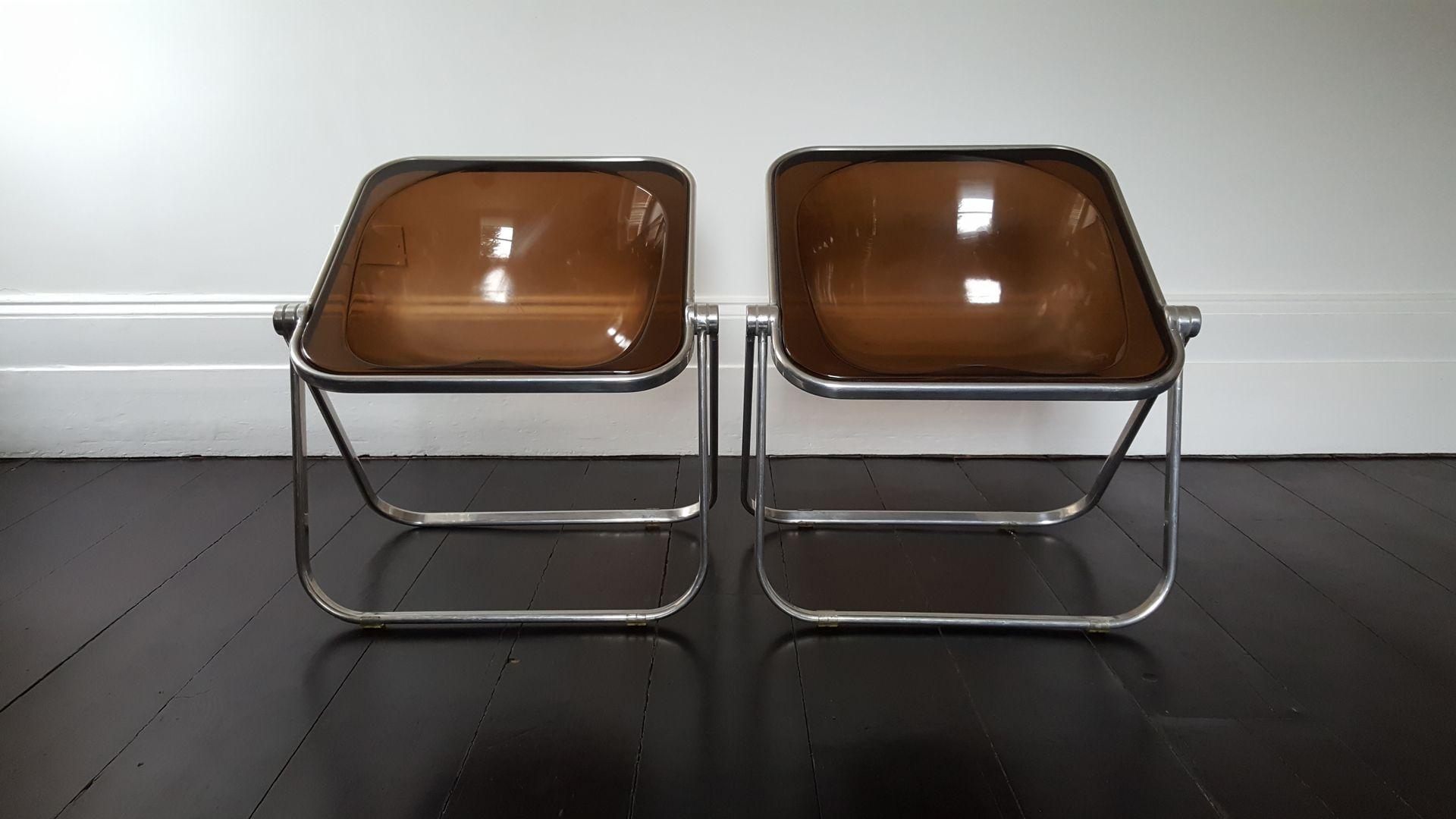 Plona Folding Chairs by Giancarlo Piretti for Castelli Set of 2