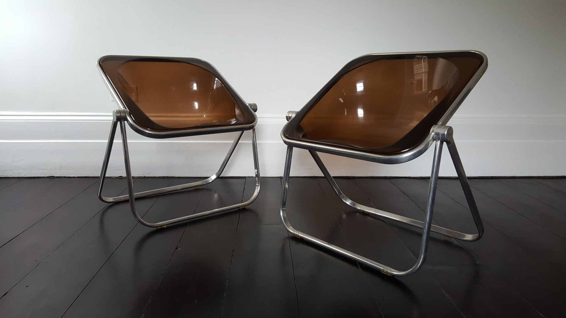 Plona Folding Chairs by Giancarlo Piretti for Castelli Set of 2