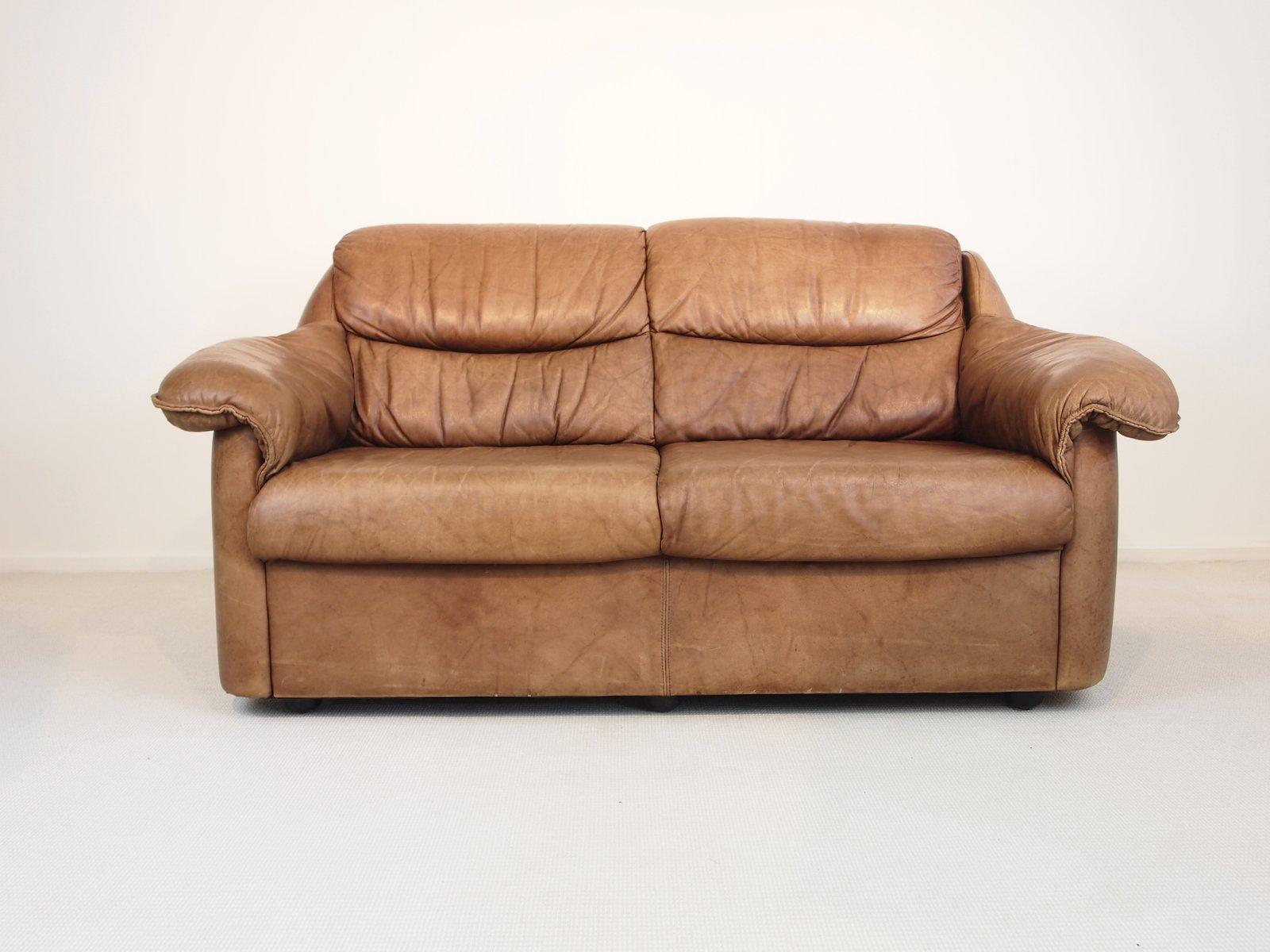 vintage sattelleder sofa 1970er bei pamono kaufen. Black Bedroom Furniture Sets. Home Design Ideas