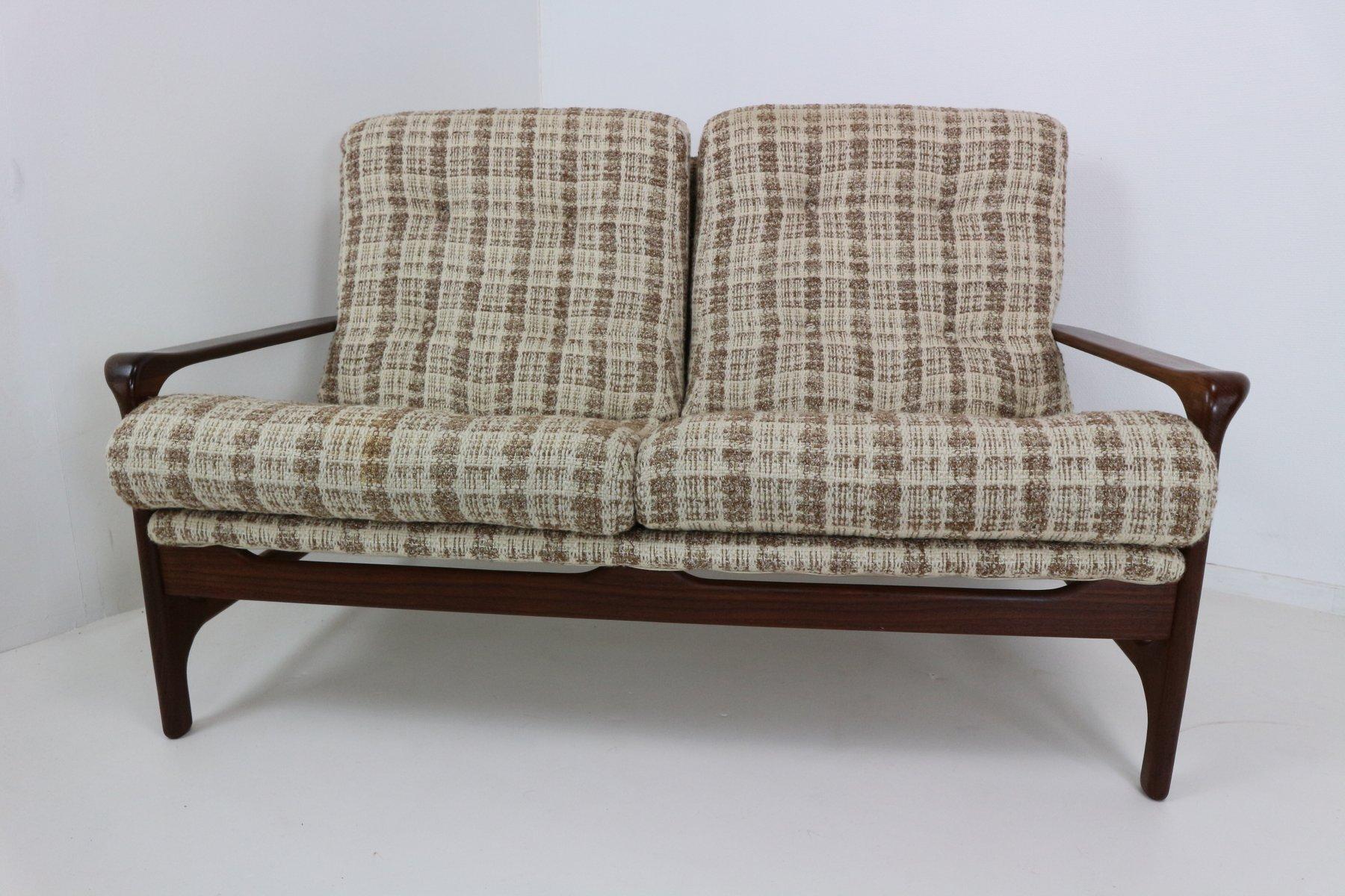 organisch geformter vintage 2 sitzer sofa aus palisander bei pamono kaufen. Black Bedroom Furniture Sets. Home Design Ideas