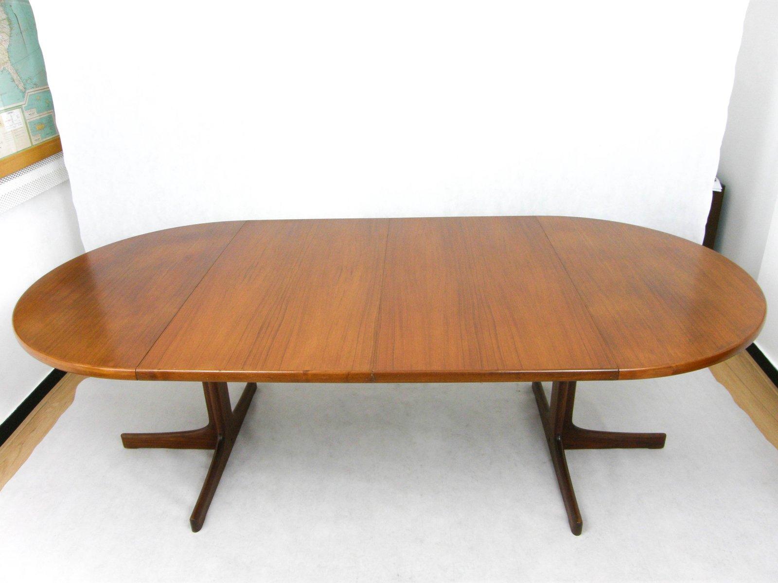 Tavolo rotondo allungabile in teak danimarca anni 39 60 in for Vendita tavolo allungabile