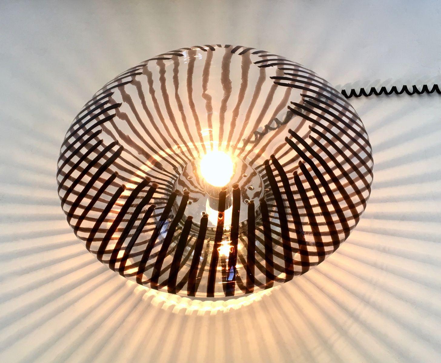 italienische tischlampe aus geblasenem glas 1970er bei. Black Bedroom Furniture Sets. Home Design Ideas