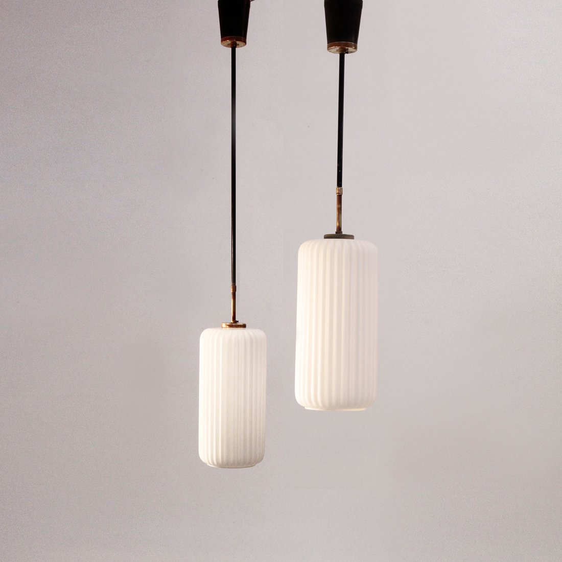 italian pendant lighting. Vintage Italian Pendant Lamps With Opaline Glass, 1950s, Set Of 2 For Sale At Pamono Lighting R