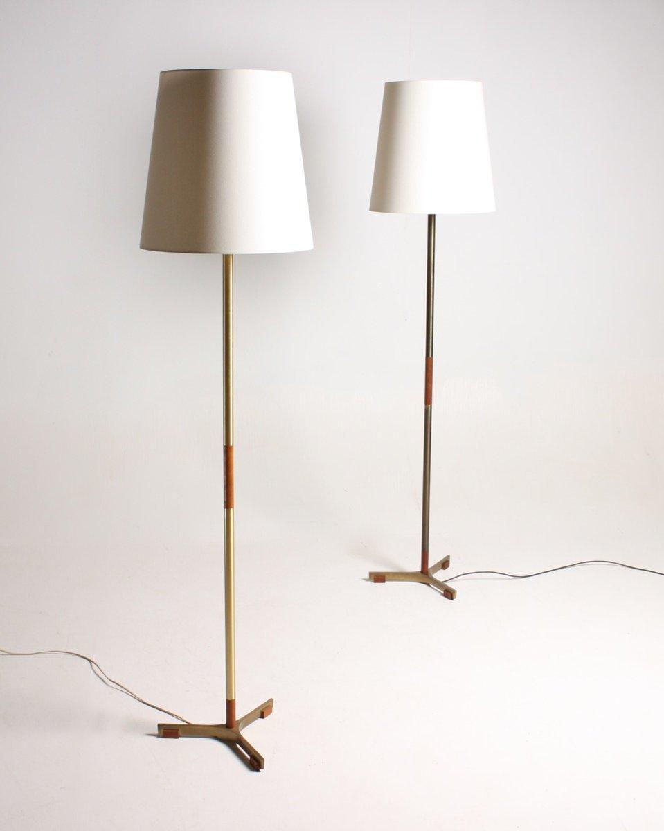 mid century president stehlampen von jo hammerborg f r fog m rup 1960er 2er set bei pamono. Black Bedroom Furniture Sets. Home Design Ideas
