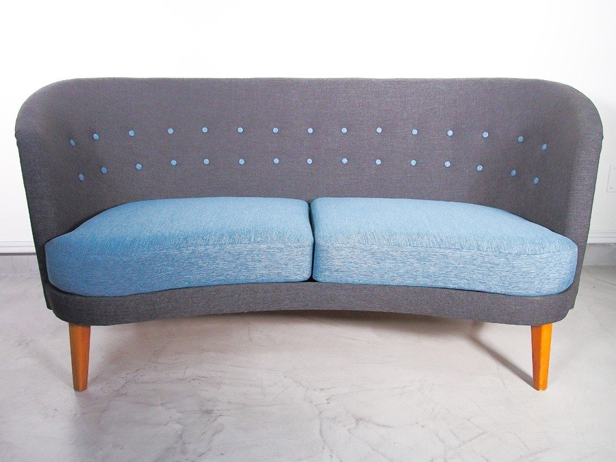 mid century sofa in blau grau 1950er bei pamono kaufen. Black Bedroom Furniture Sets. Home Design Ideas
