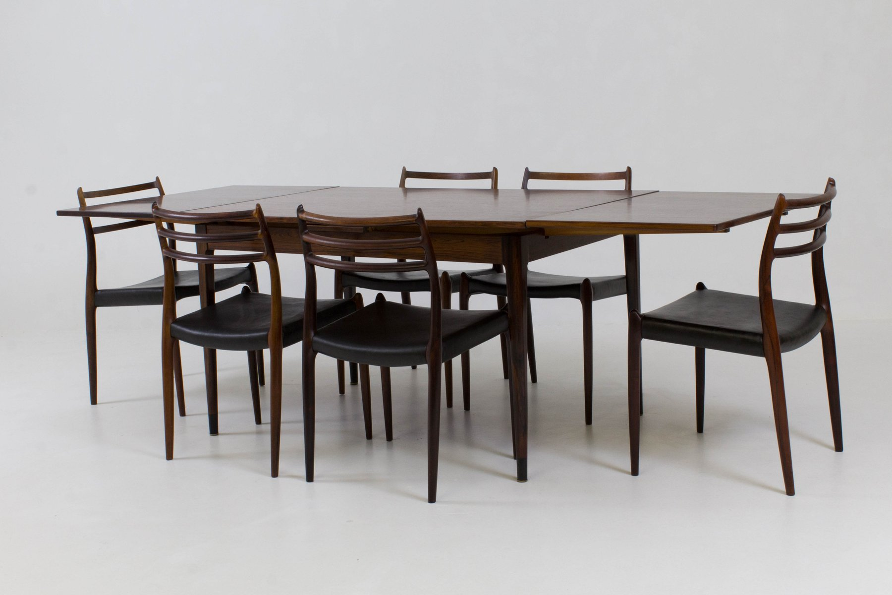 Perfect Danish Dining Room Set By Niels Otto Møller For JL Møllers, 1960s