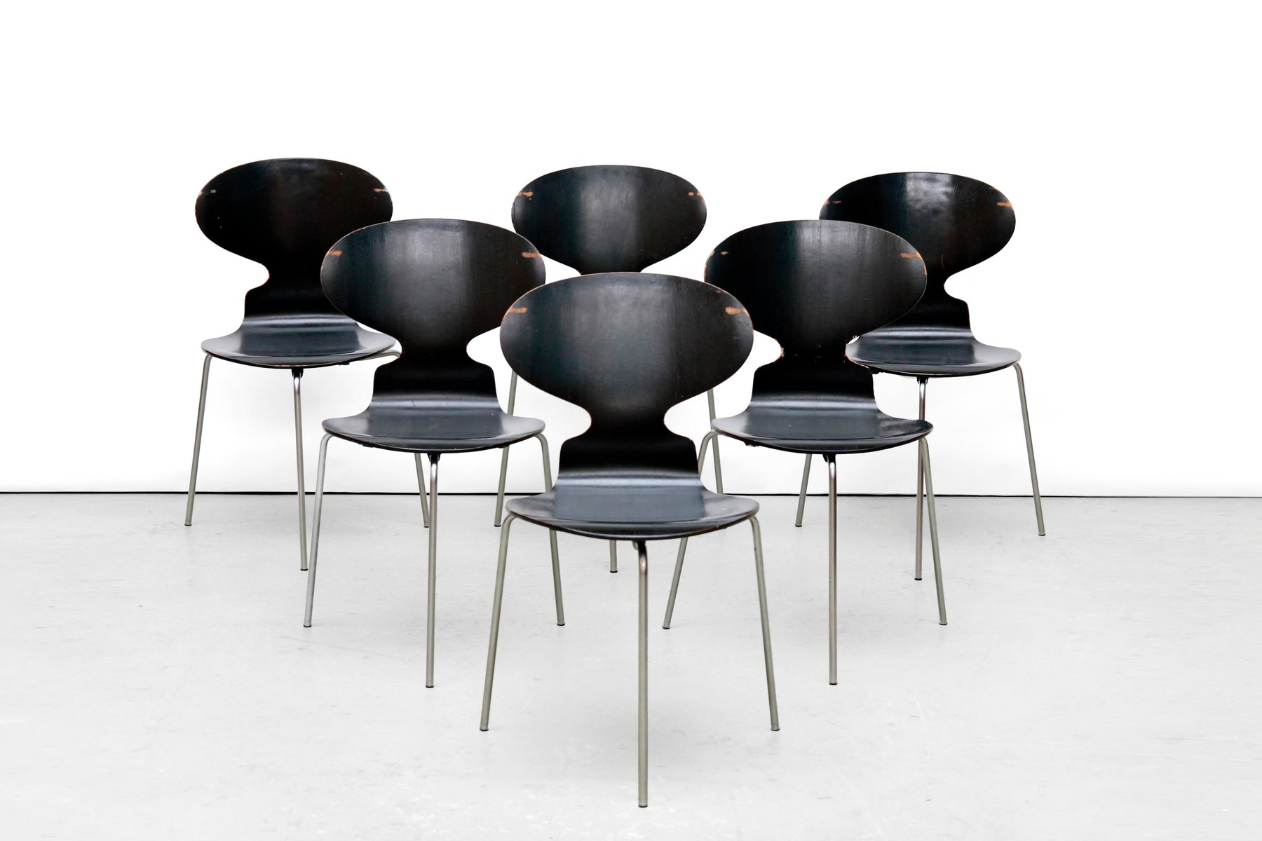 Model FH 3100 Ant Chairs By Arne Jacobsen For Fritz Hansen, 1969, Set Of 6  For Sale At Pamono