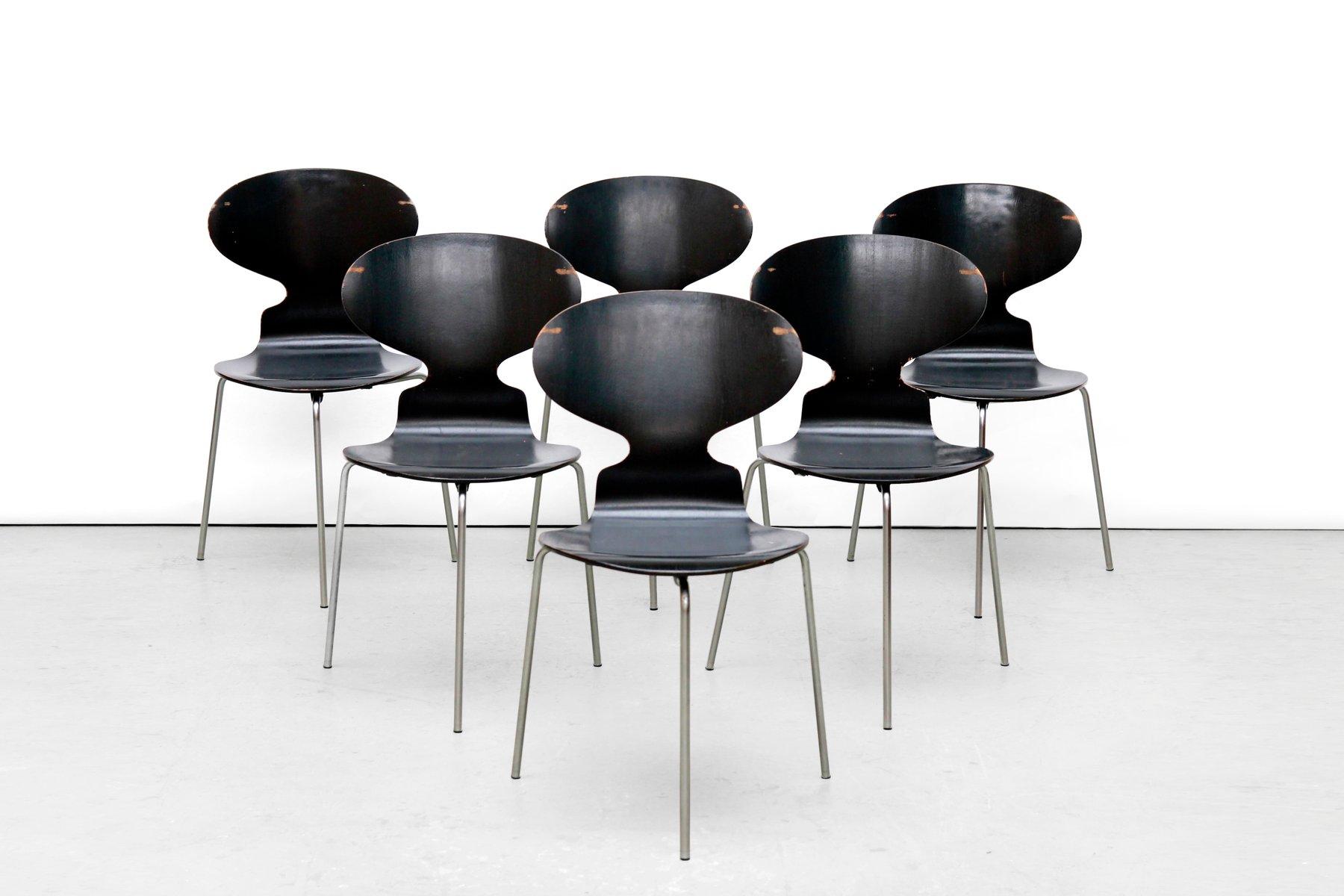 Jacobsen Stühle modell fh 3100 ant stühle arne jacobsen für fritz hansen 1969 6er set bei pamono kaufen