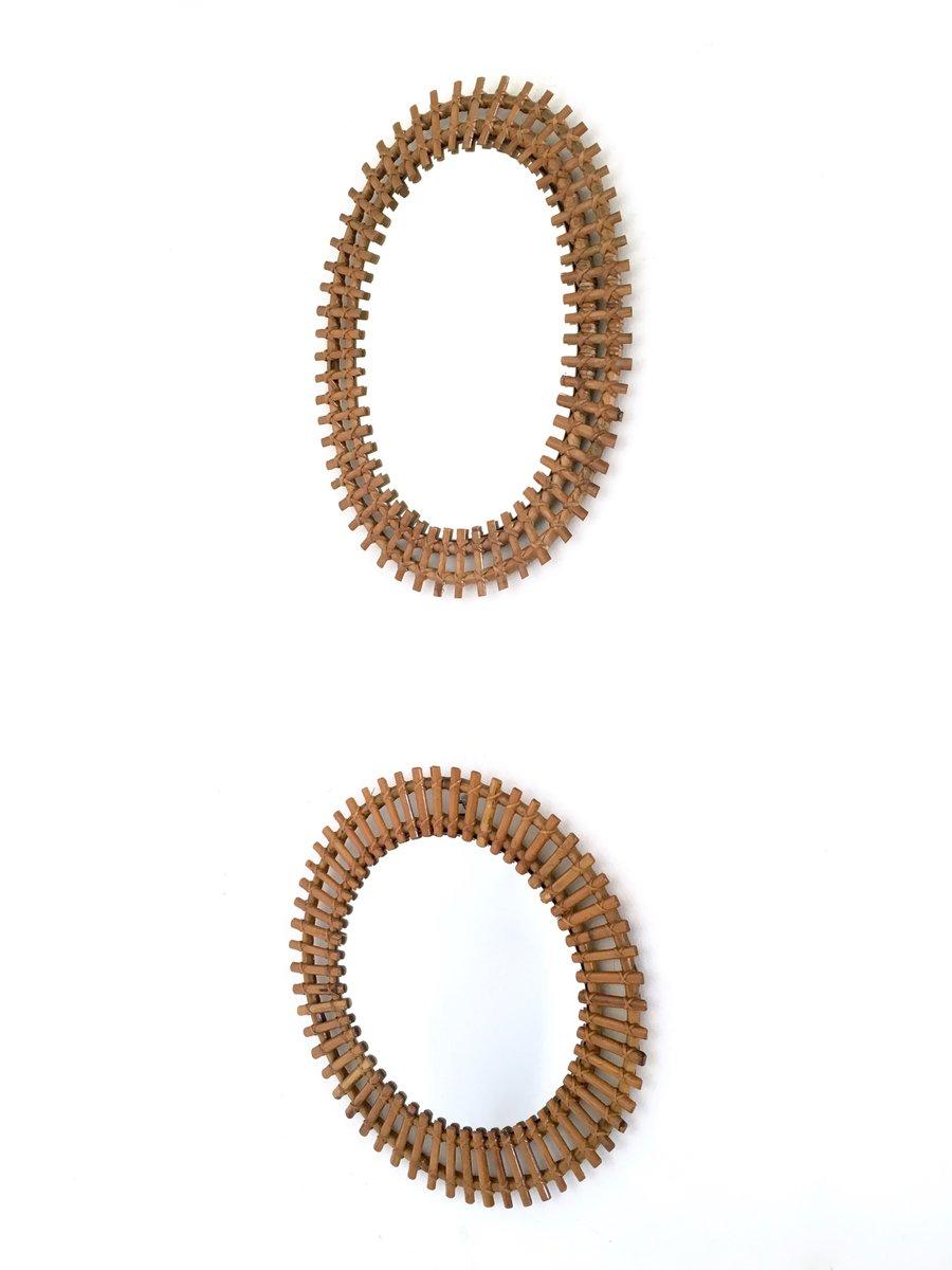Specchi a muro, Italia, anni \'50, set di 2 in vendita su Pamono