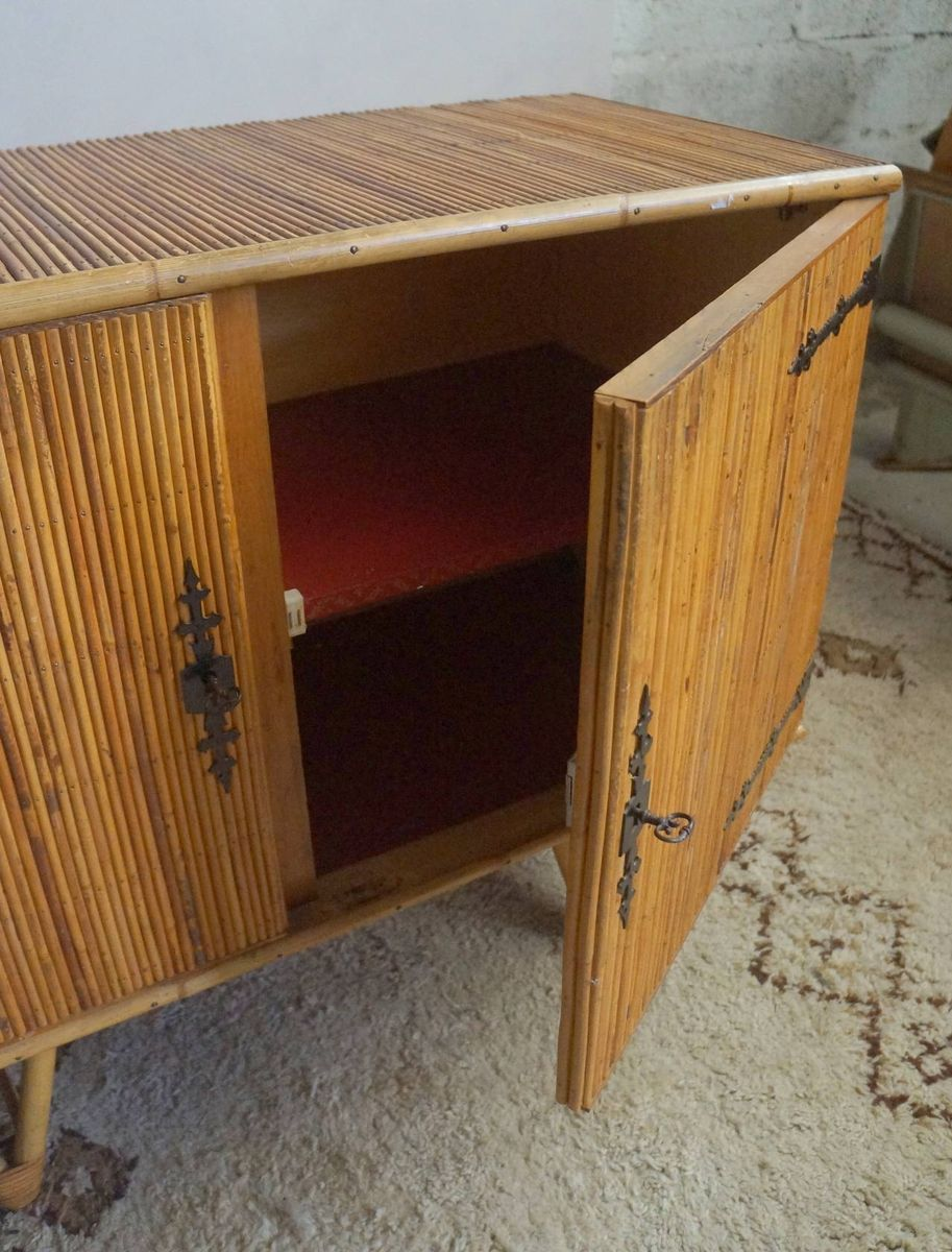 Bamboo cabinet 1950s for sale at pamono for Bamboo kitchen cabinets australia