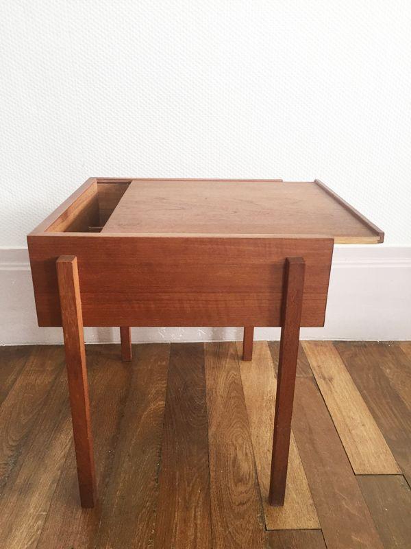 skandinavischer mid century teak arbeitstisch 1960er bei pamono kaufen. Black Bedroom Furniture Sets. Home Design Ideas