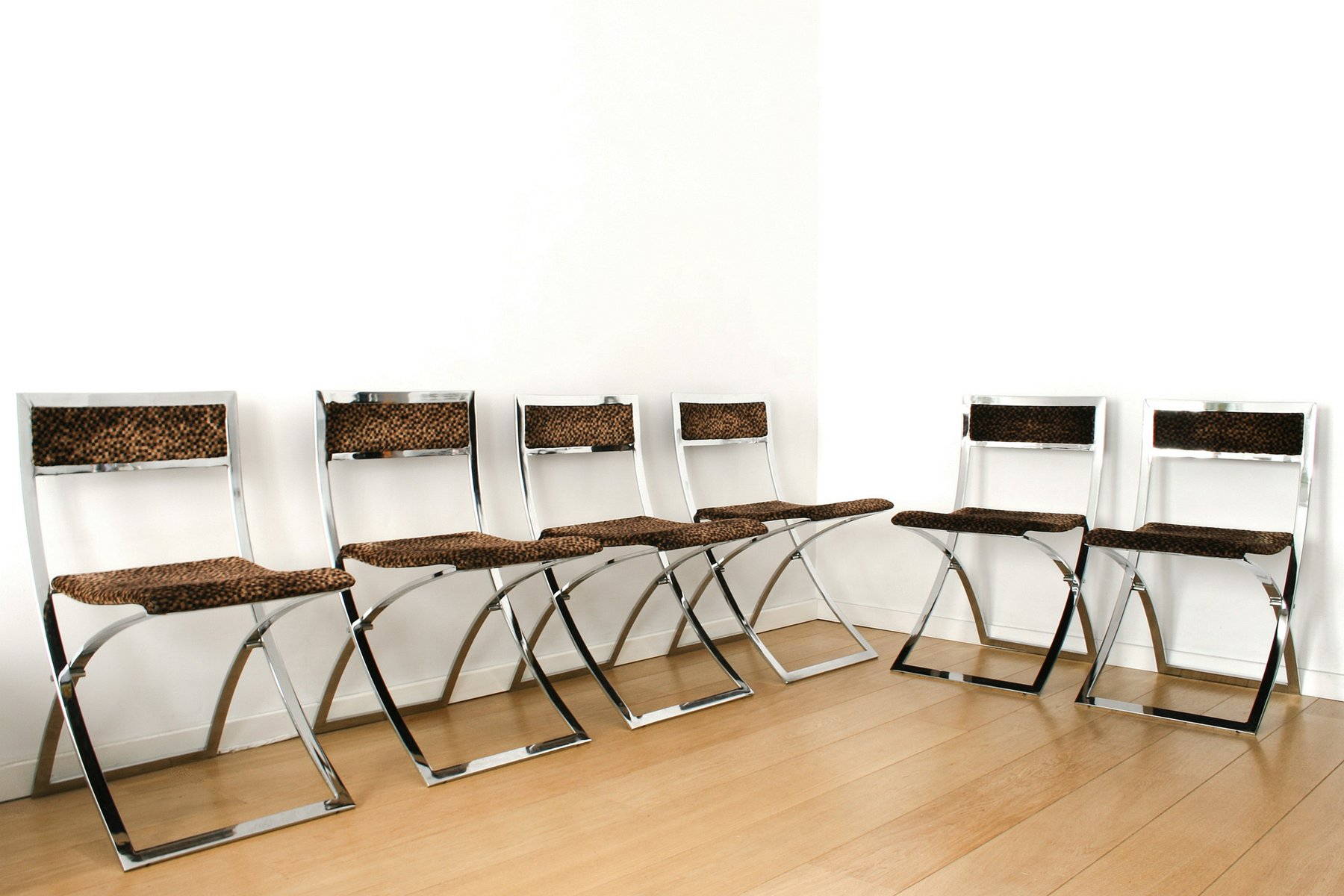 set of folding chairs. Mid-Century Luisa Folding Chairs By Marcello Cuneo, Set Of 6