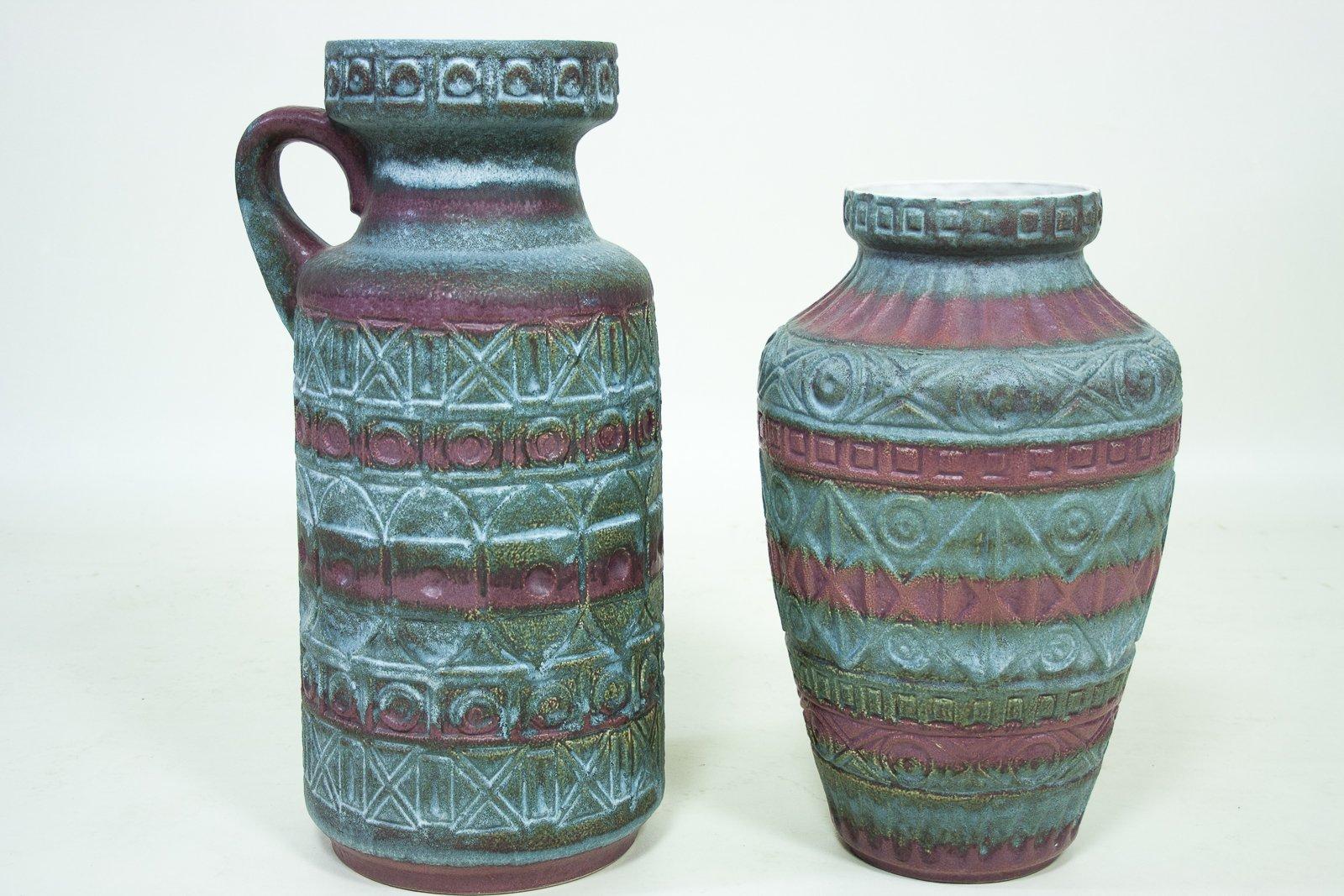 Vintage west german ceramic vases by bodo mans for bay keramik vintage west german ceramic vases by bodo mans for bay keramik set of 2 reviewsmspy