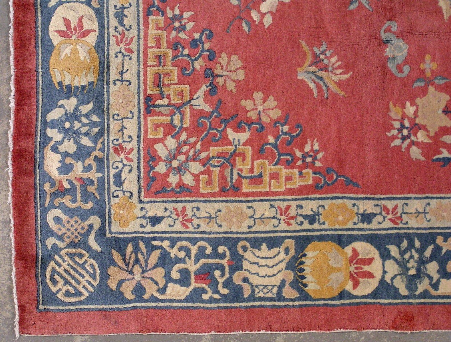 Handgekn pfter chinesischer art deco teppich 1930er bei - Art deco teppich ...