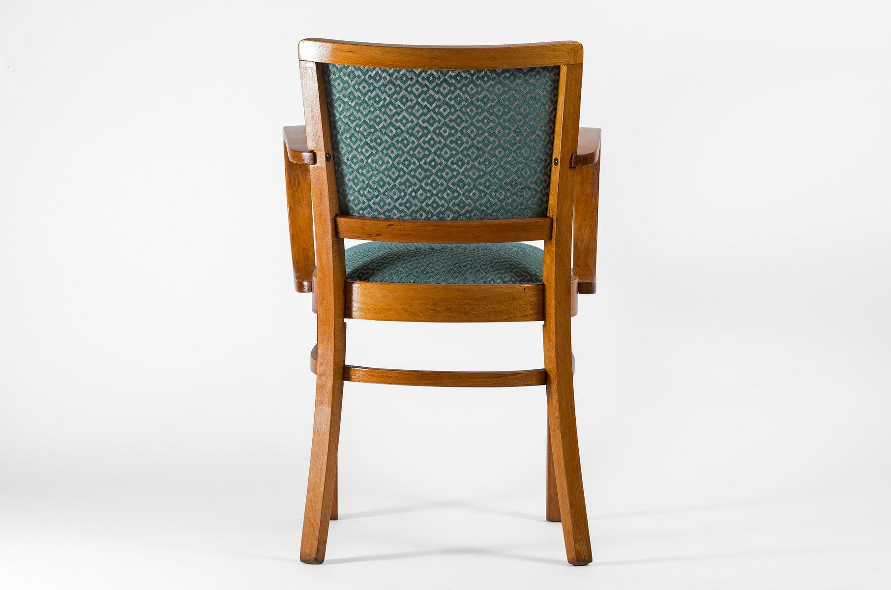 gr ner art deco armlehnstuhl 1930er bei pamono kaufen. Black Bedroom Furniture Sets. Home Design Ideas