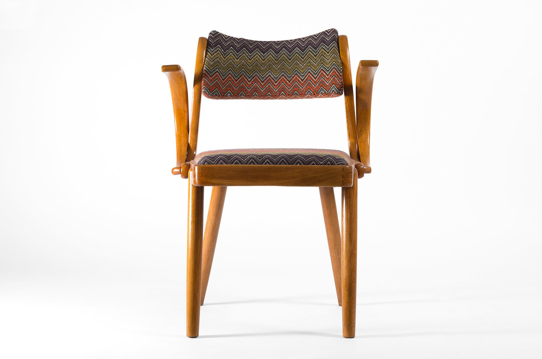 Zigzag Patterned Art Deco Armchair 1930s For Sale At Pamono