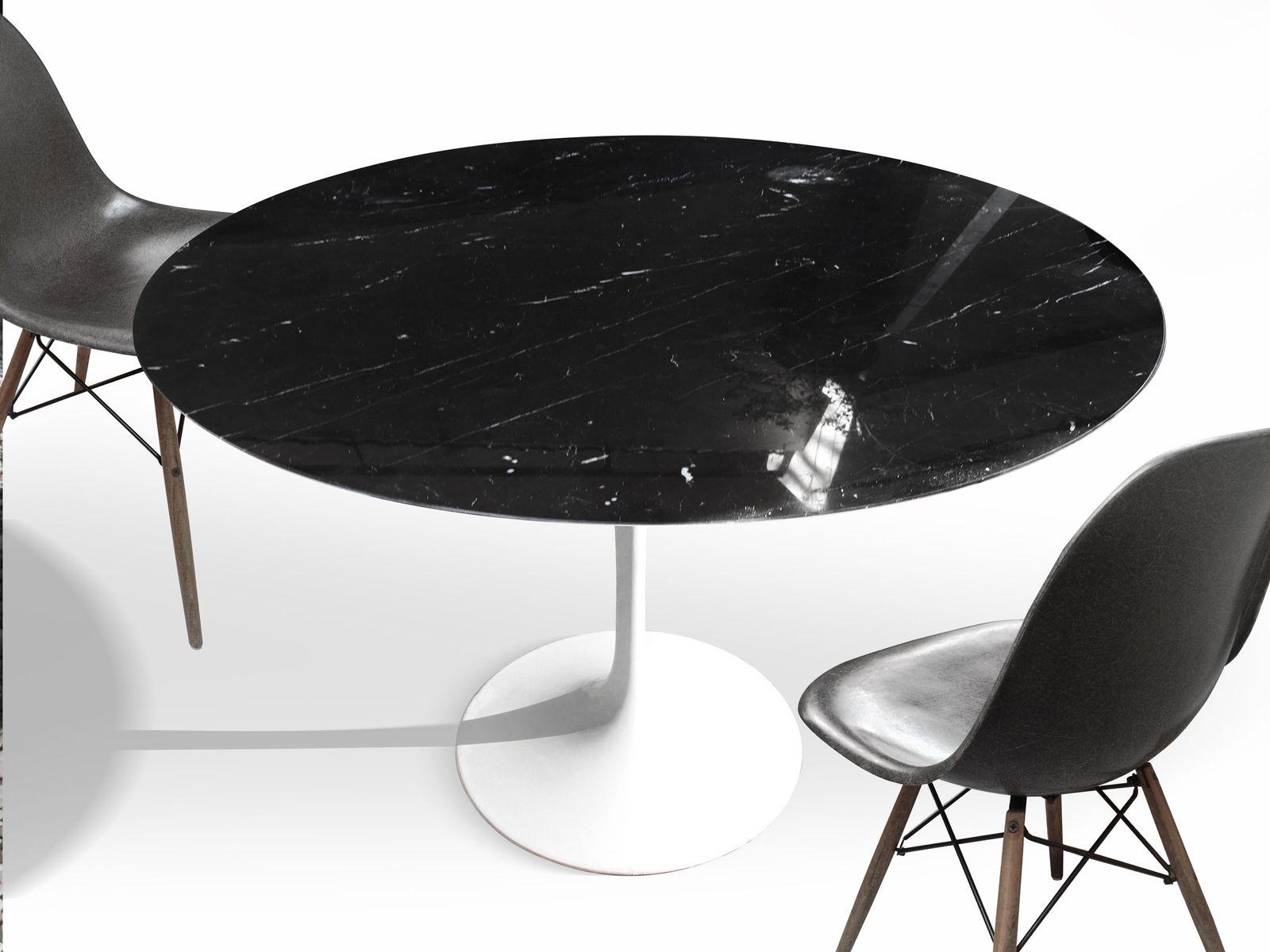 vintage schwarzer marquina esstisch von eero saarinen f r knoll bei pamono kaufen. Black Bedroom Furniture Sets. Home Design Ideas