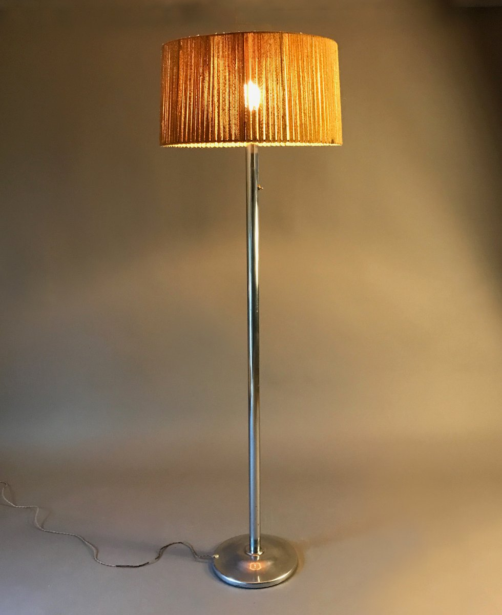 French modernist floor lamp by robert mallet stevens 1930s for price per piece mozeypictures Choice Image