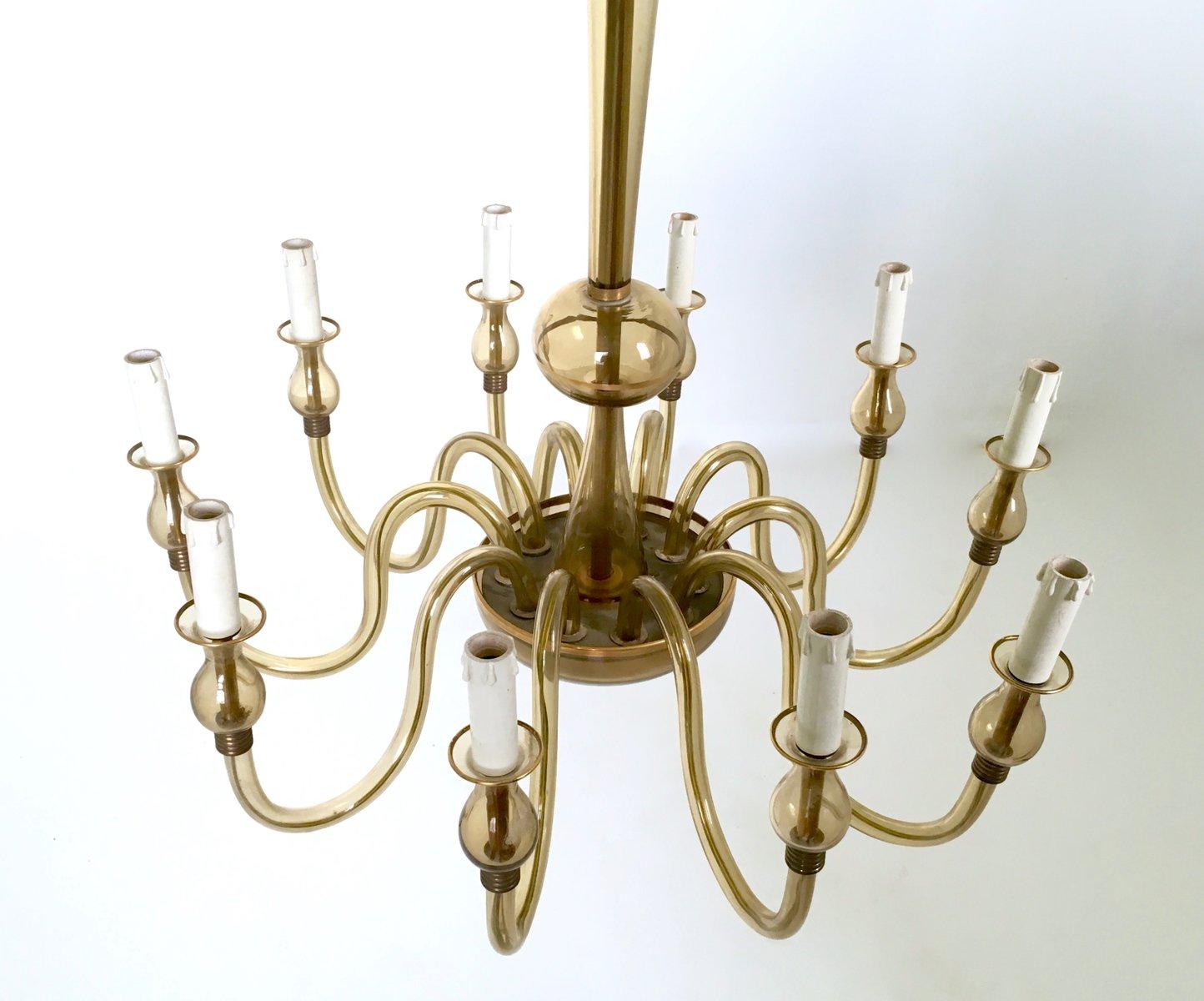italienischer vintage murano glas kronleuchter 1940er bei pamono kaufen. Black Bedroom Furniture Sets. Home Design Ideas
